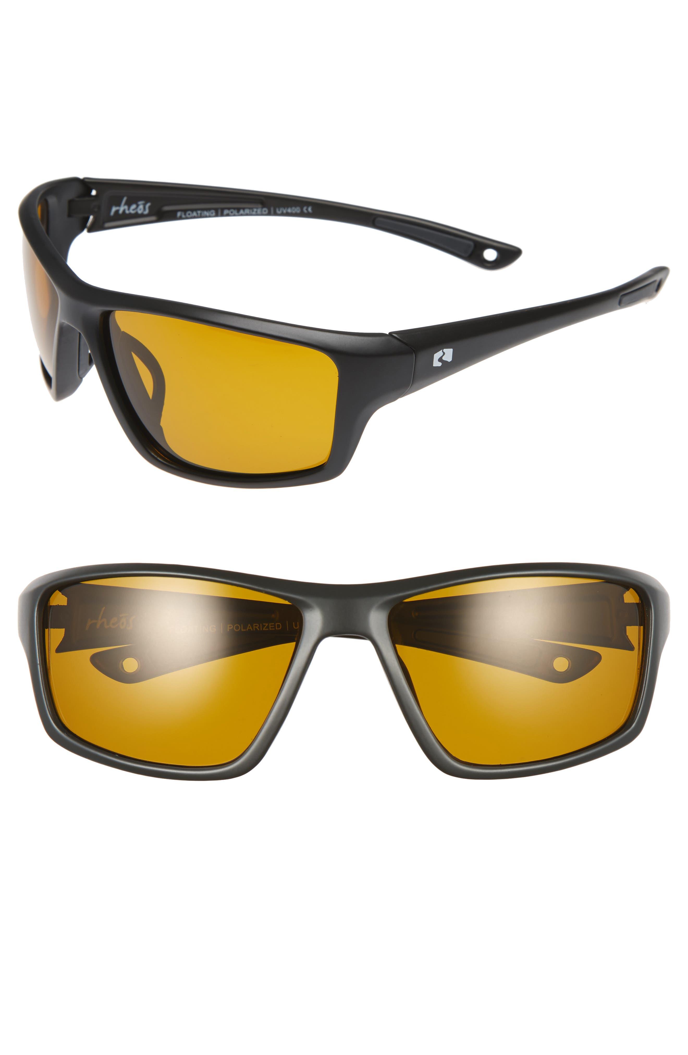 Eddies Floating 58mm Polarized Sunglasses,                         Main,                         color, GUNMETAL/ LIGHT AMBER