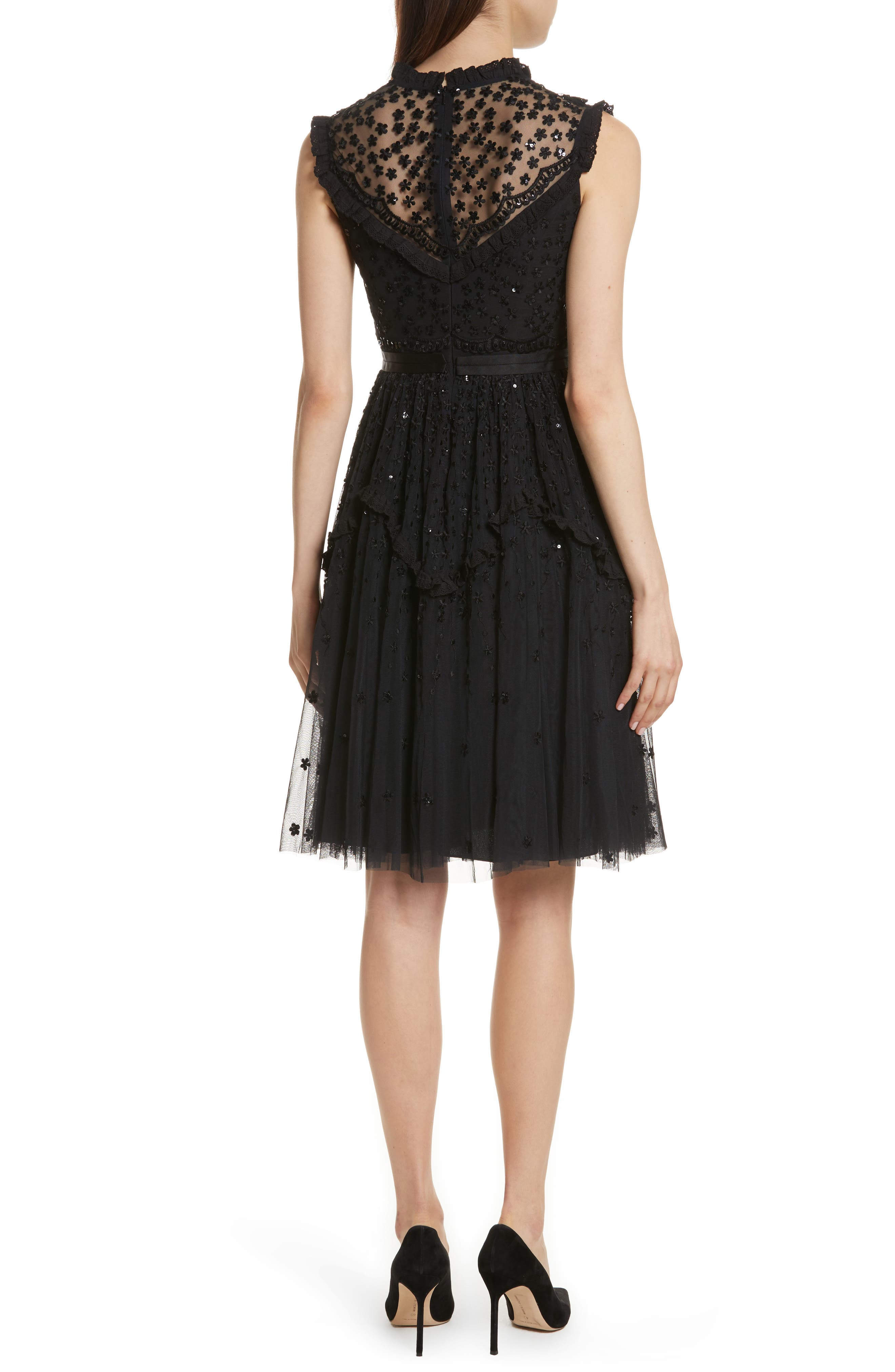 Daisy Shimmer Dress,                             Alternate thumbnail 2, color,                             001