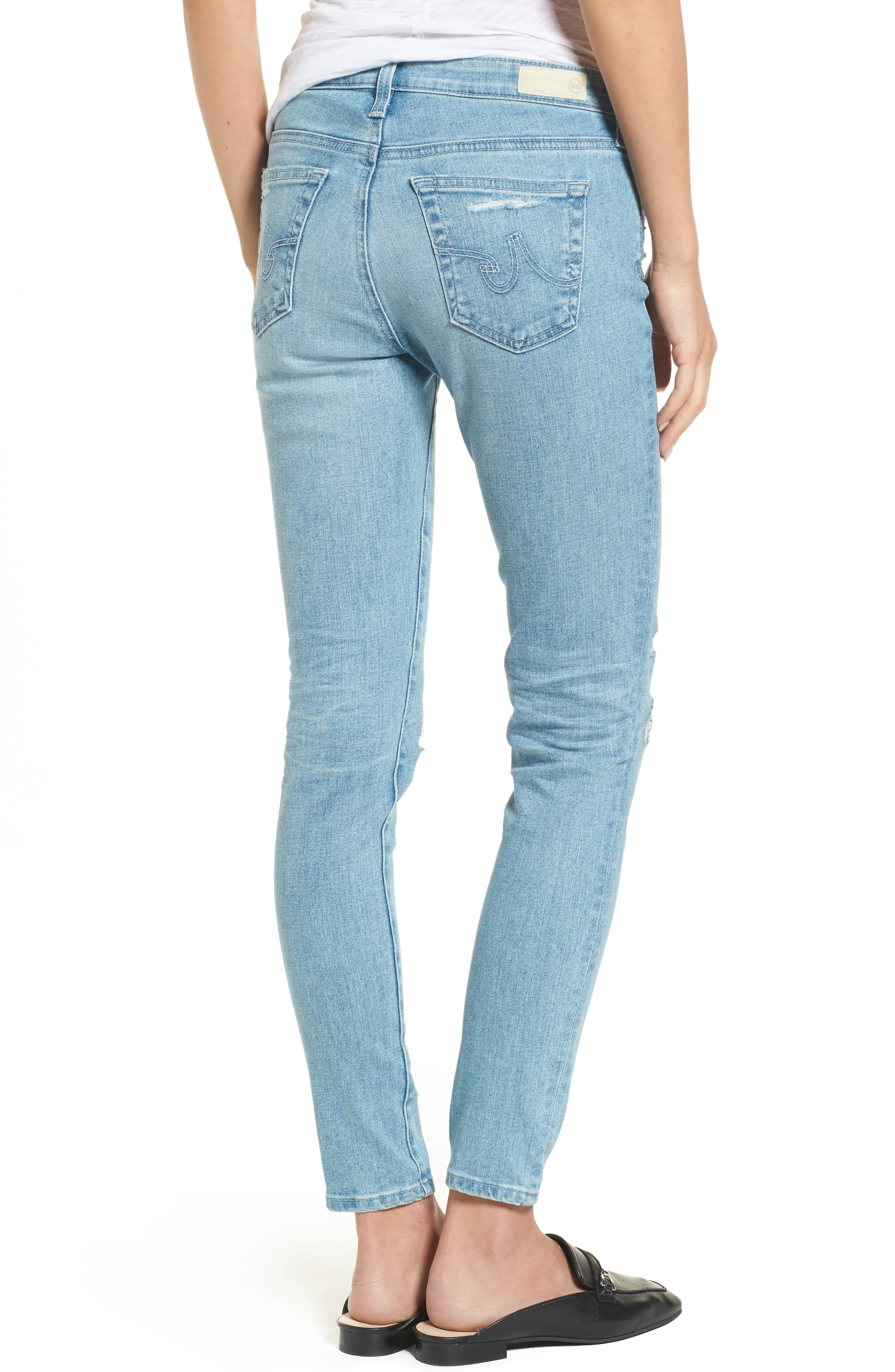 The Legging Ankle Super Skinny Jeans,                             Alternate thumbnail 24, color,