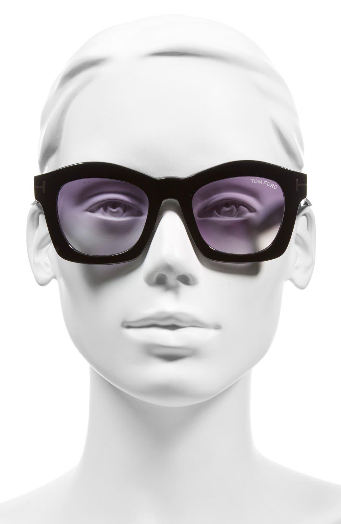 'Greta' 50mm Sunglasses,                             Alternate thumbnail 2, color,                             001