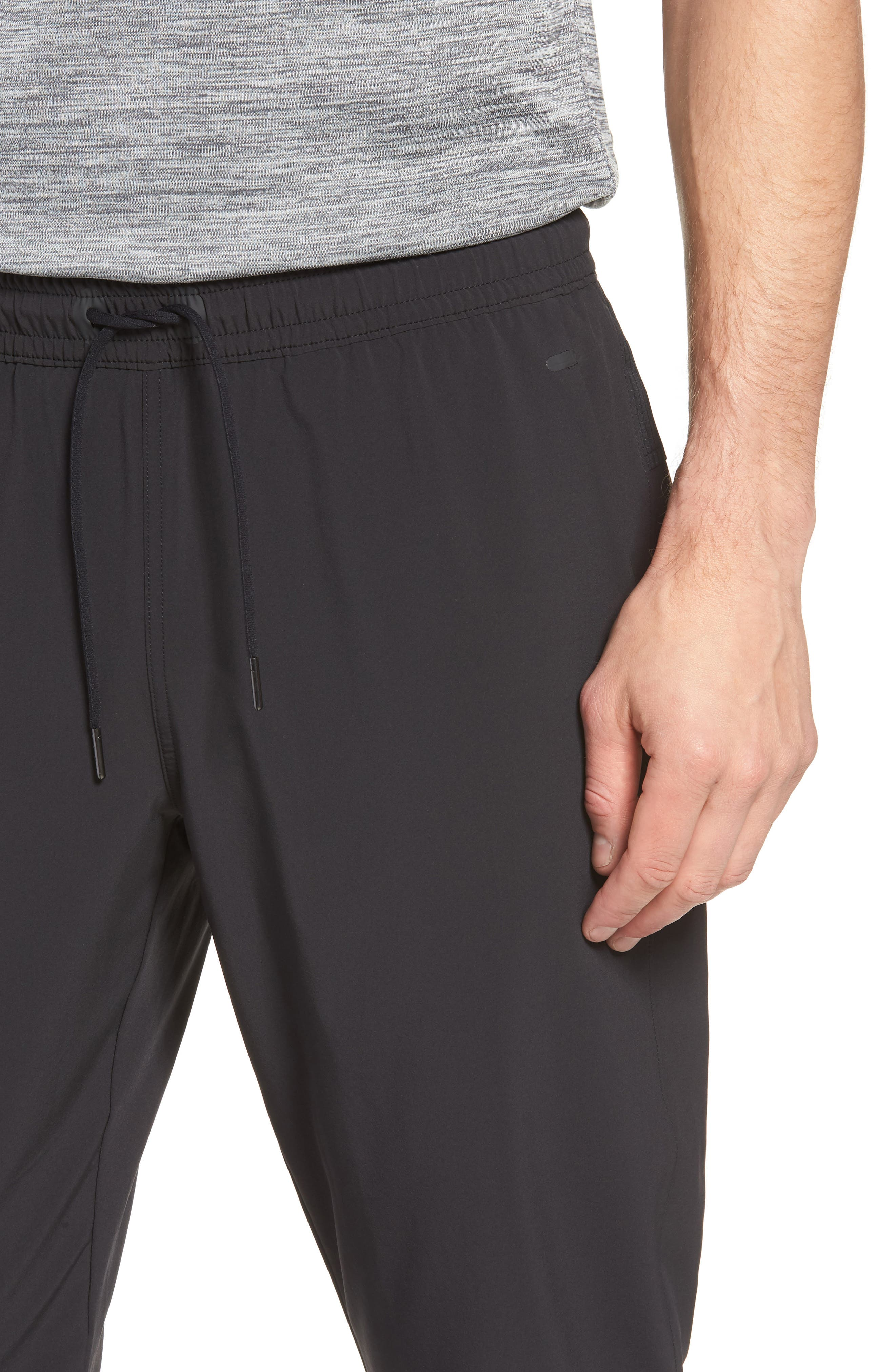 Graphite Tapered Athletic Pants,                             Alternate thumbnail 4, color,                             BLACK