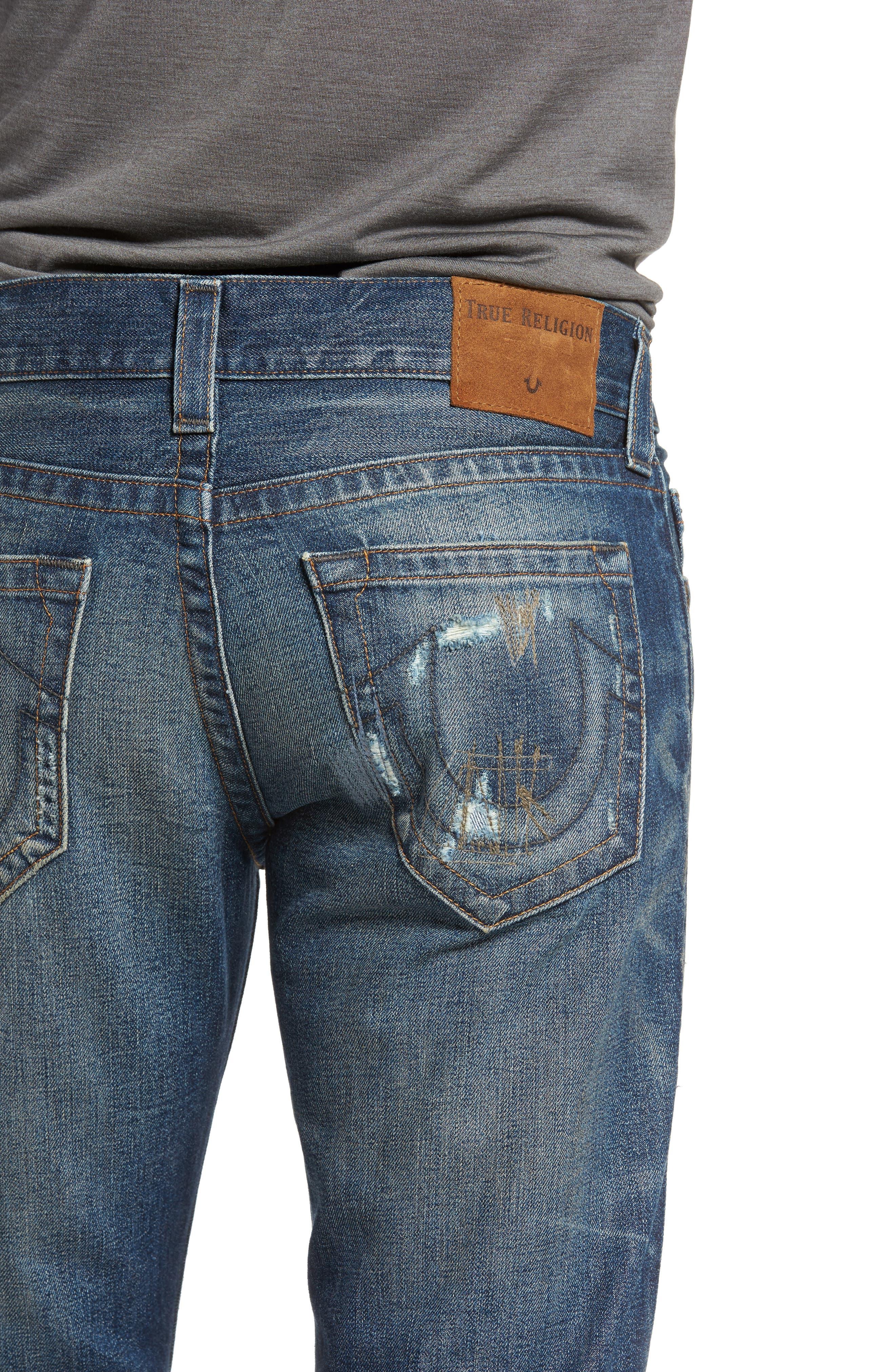 Geno Straight Leg Jeans,                             Alternate thumbnail 4, color,                             401