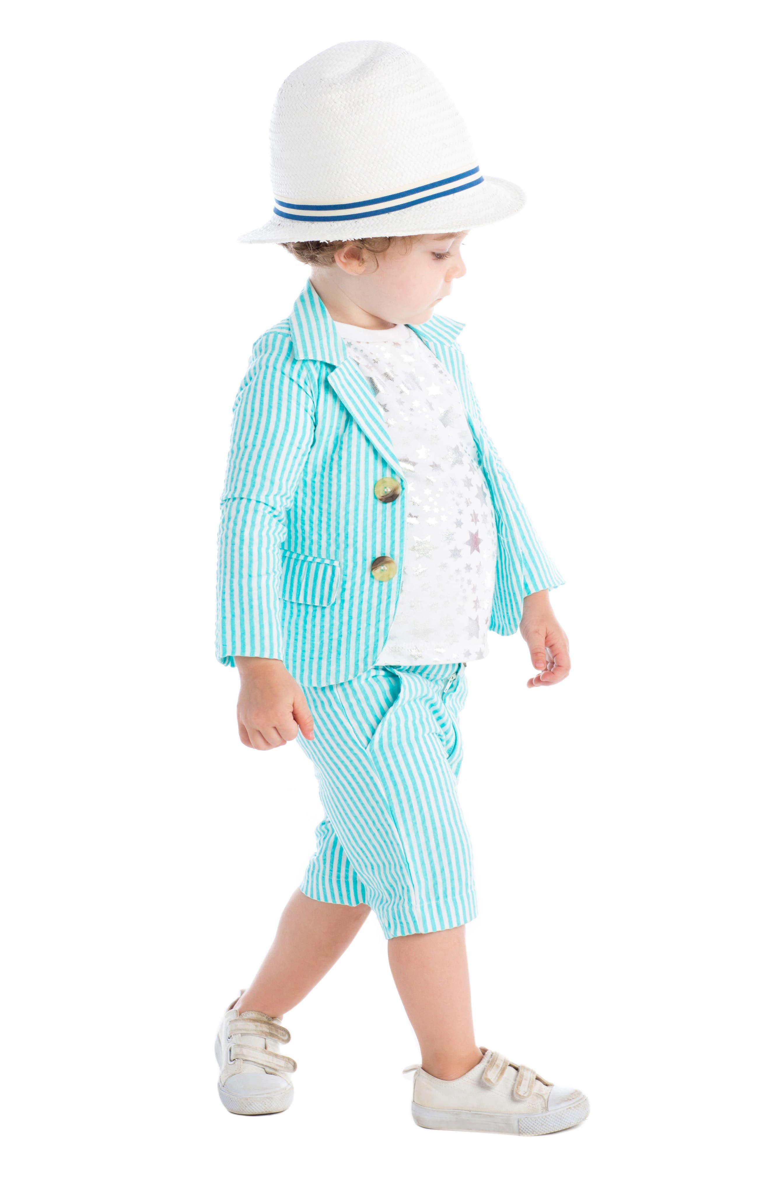 Masalababy Crosby Stripe Shorts,                             Alternate thumbnail 3, color,                             400