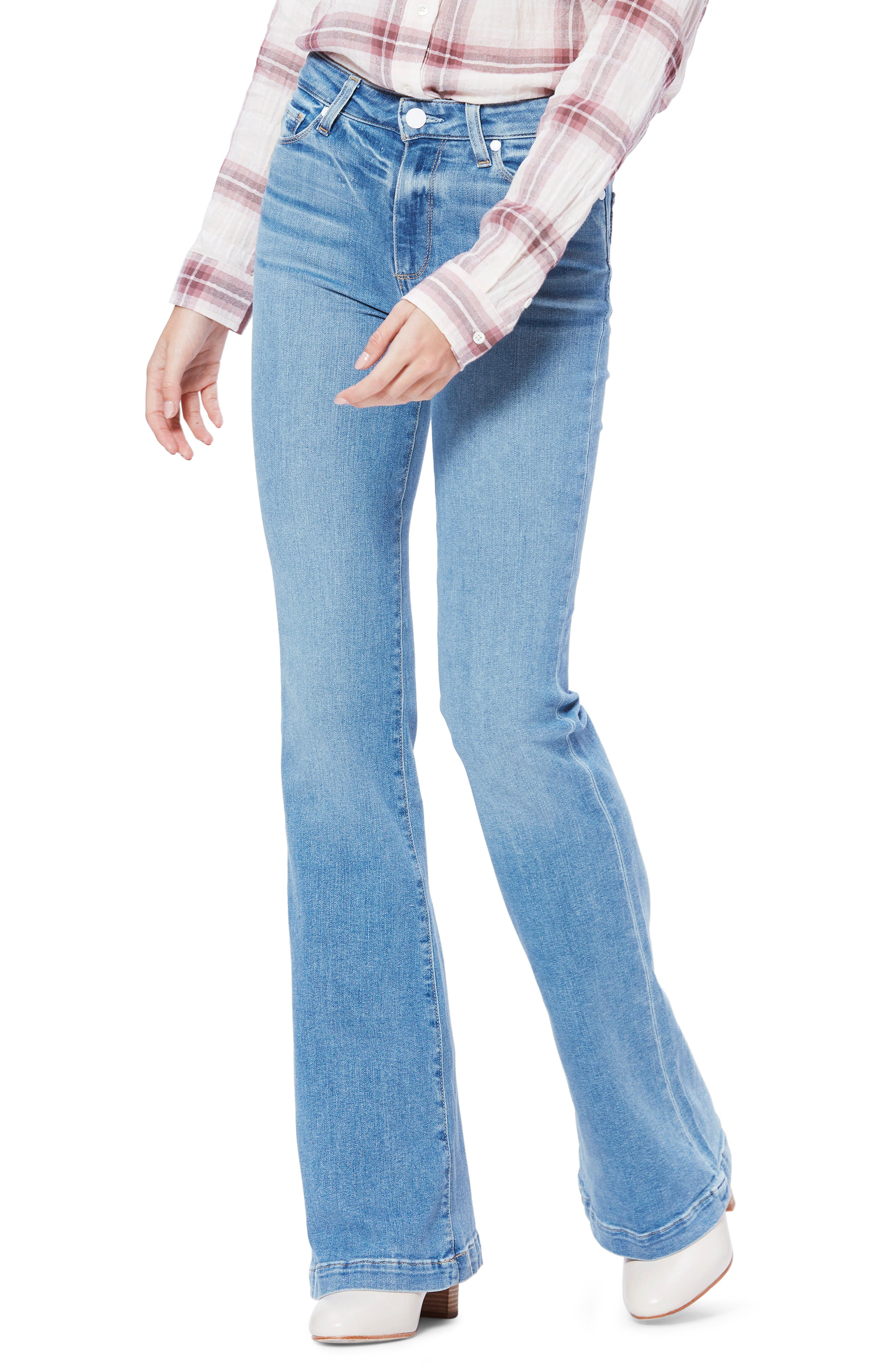 Women's Paige Transcend Vintage - Genevieve Wide Leg Jeans