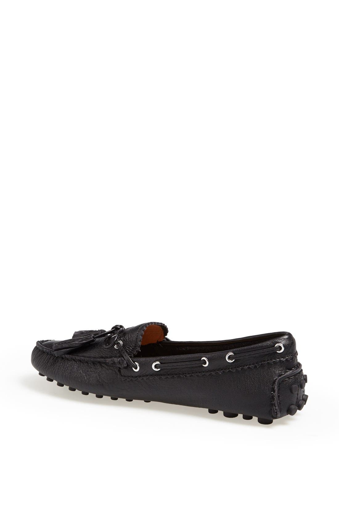 'Nadia' Leather Driving Loafer,                             Alternate thumbnail 2, color,                             001