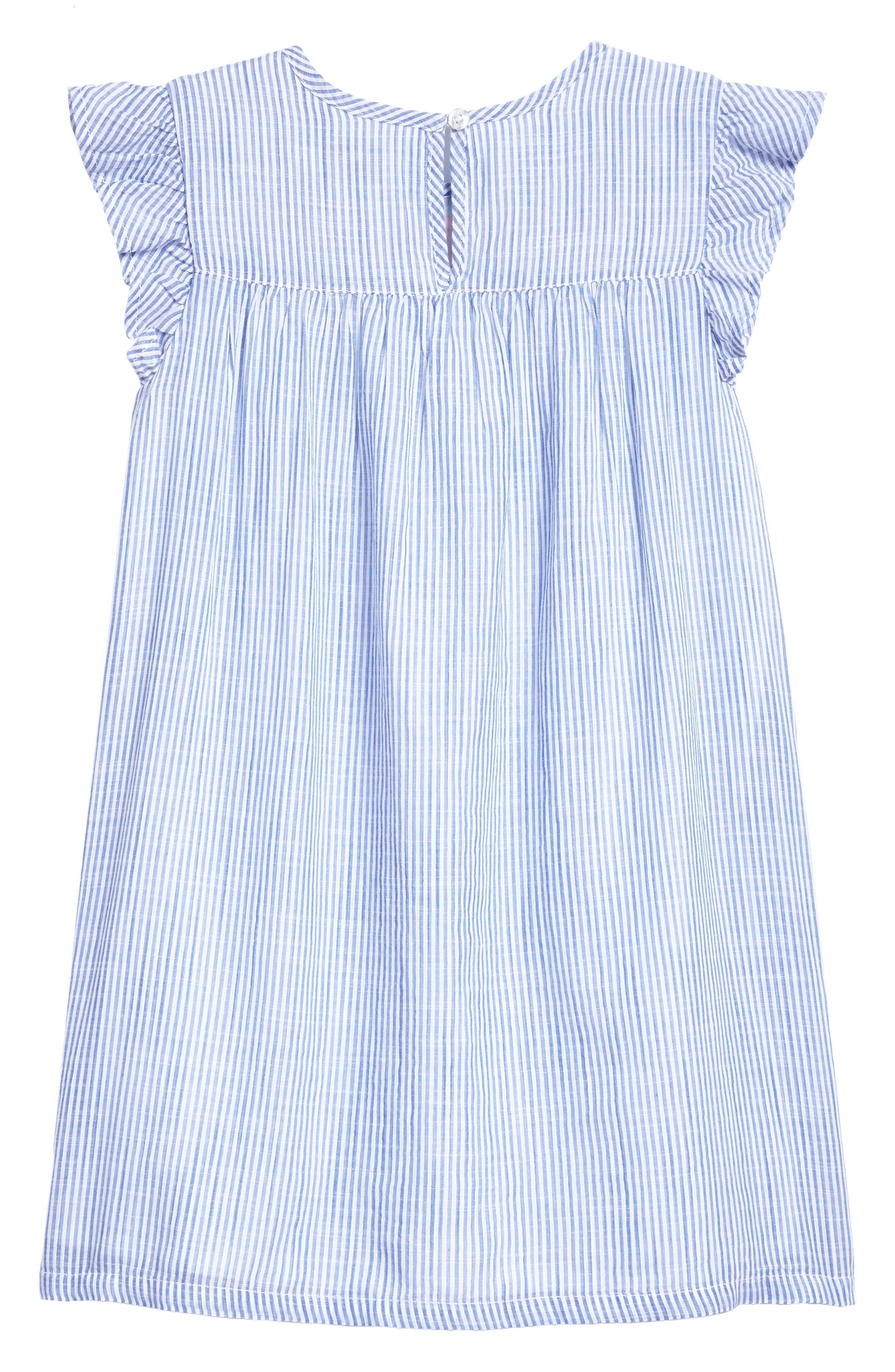 Embroidered Flutter Dress,                             Alternate thumbnail 2, color,                             400