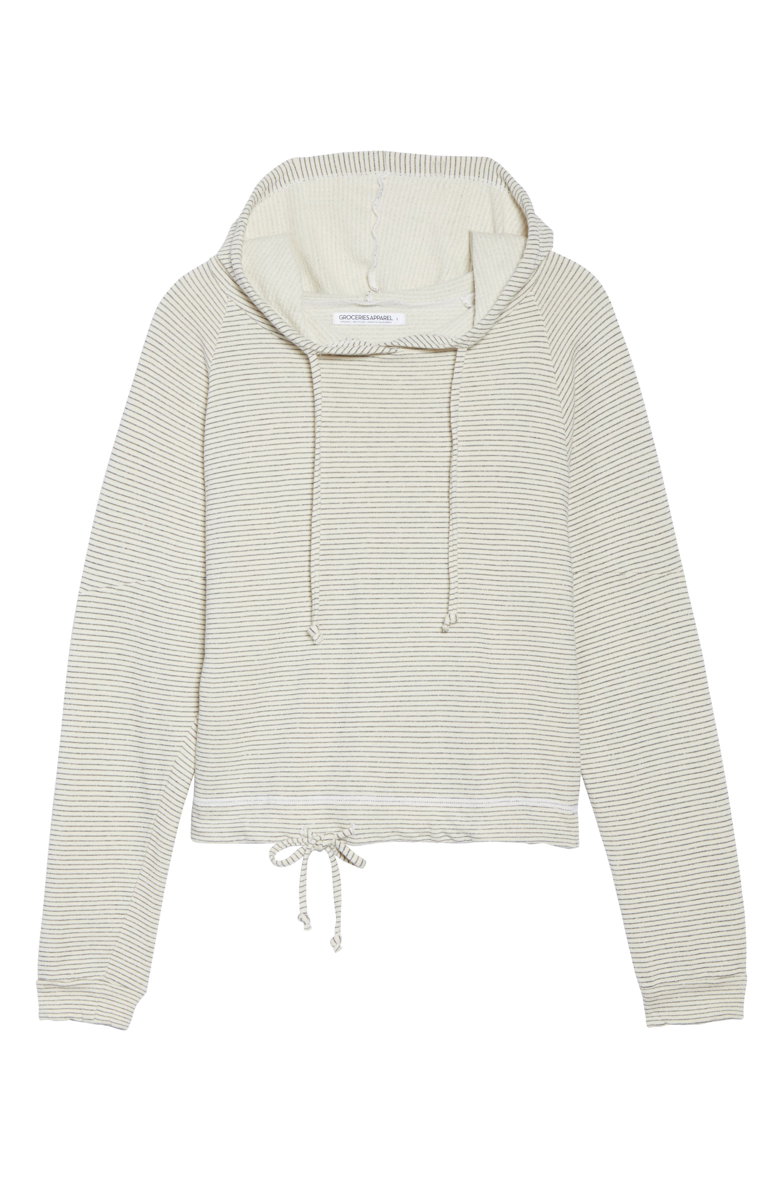 Apparel Atwater Stripe Hoodie,                             Alternate thumbnail 6, color,                             NATURAL