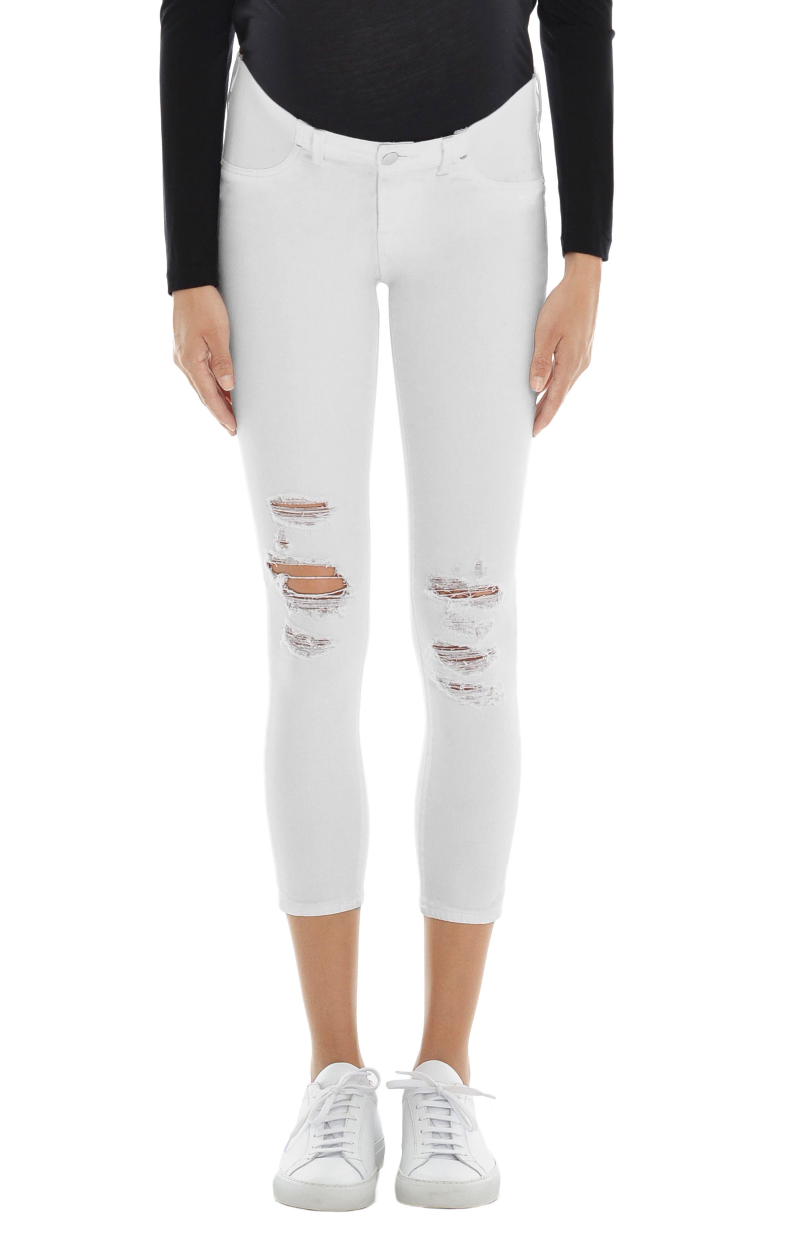 Mama J Maternity Capri Jeans,                         Main,                         color, 100