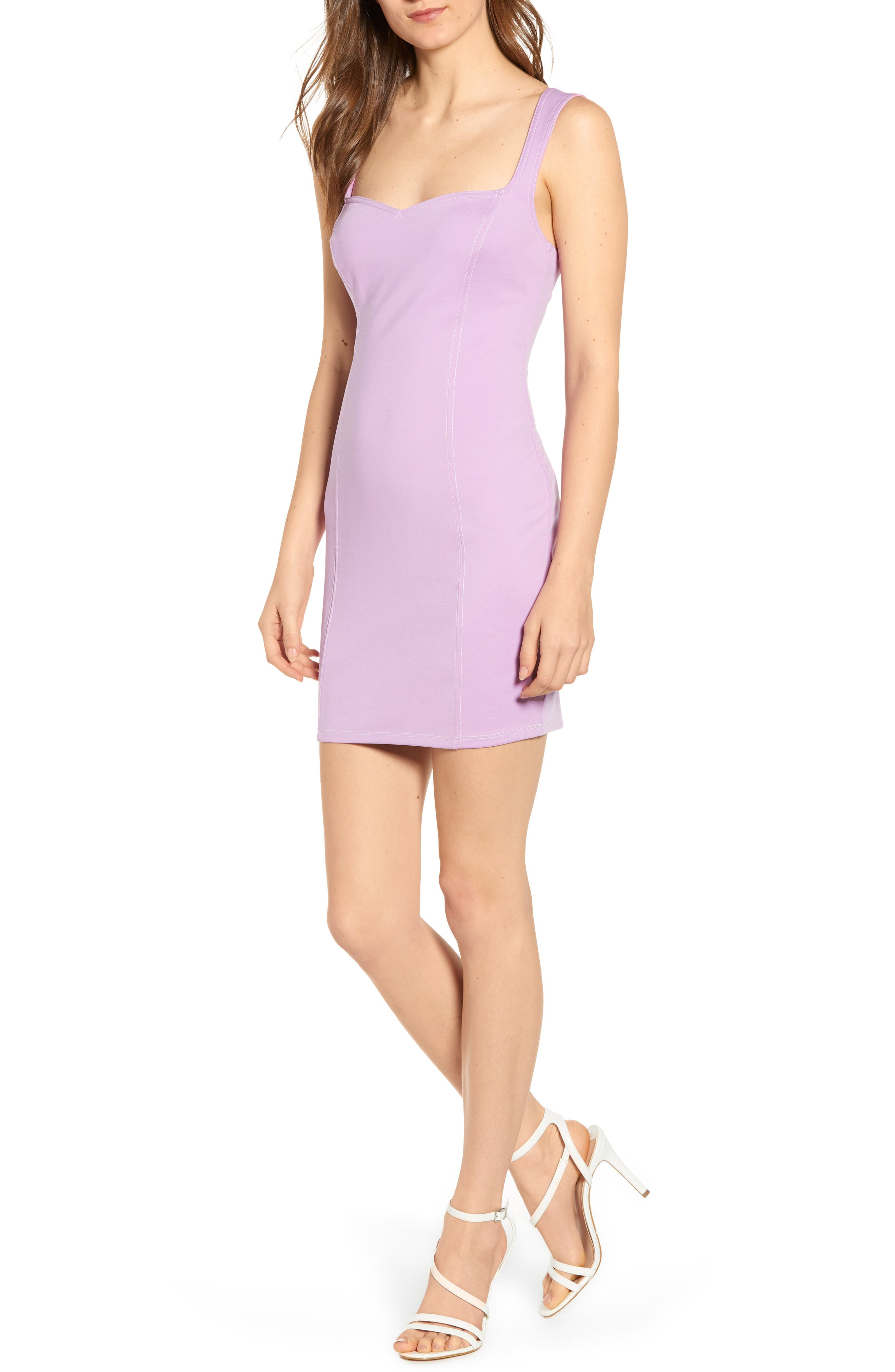 Astr The Label Body-Con Dress, Purple