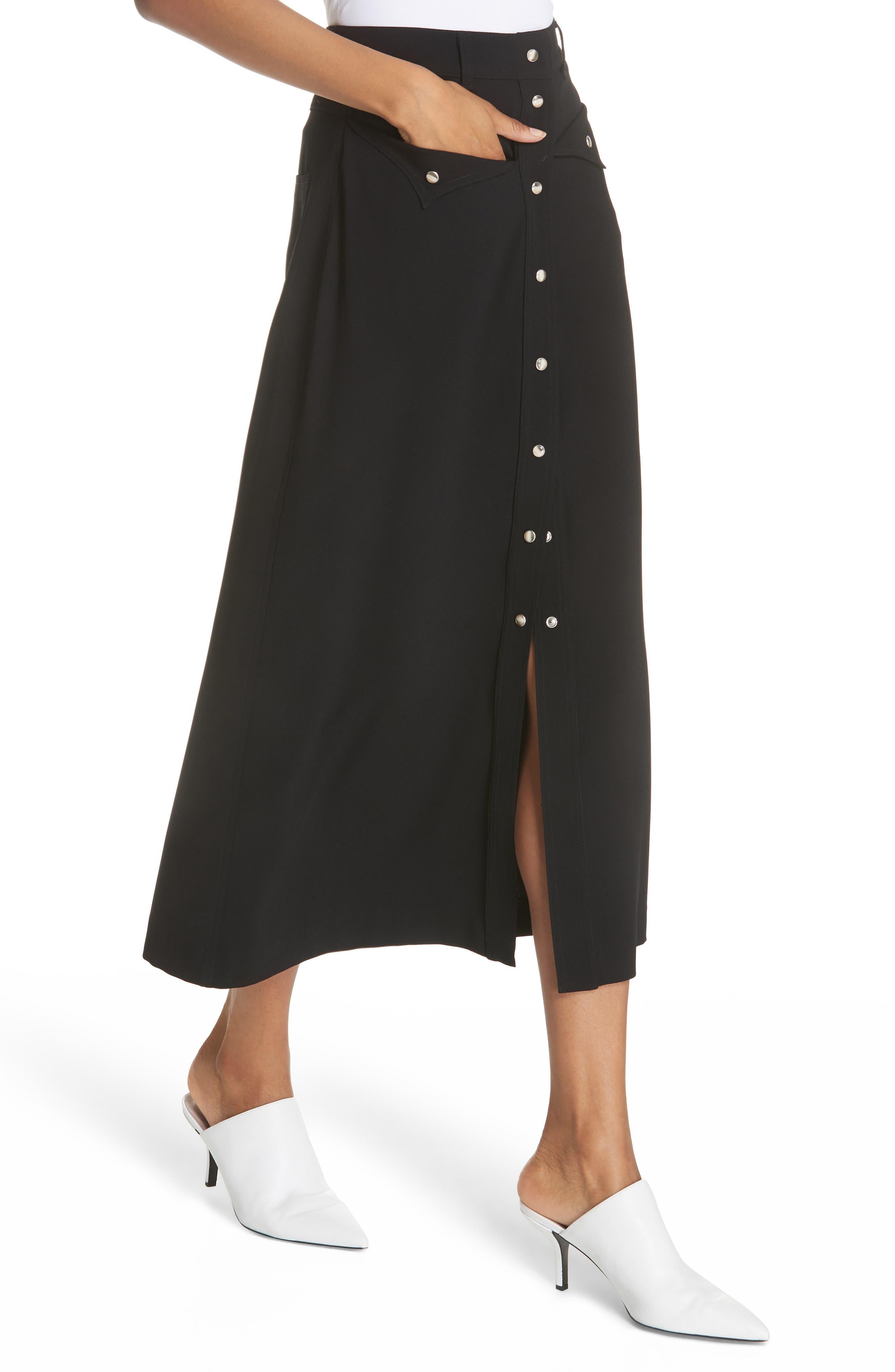 Meida Midi Skirt,                             Alternate thumbnail 4, color,                             003