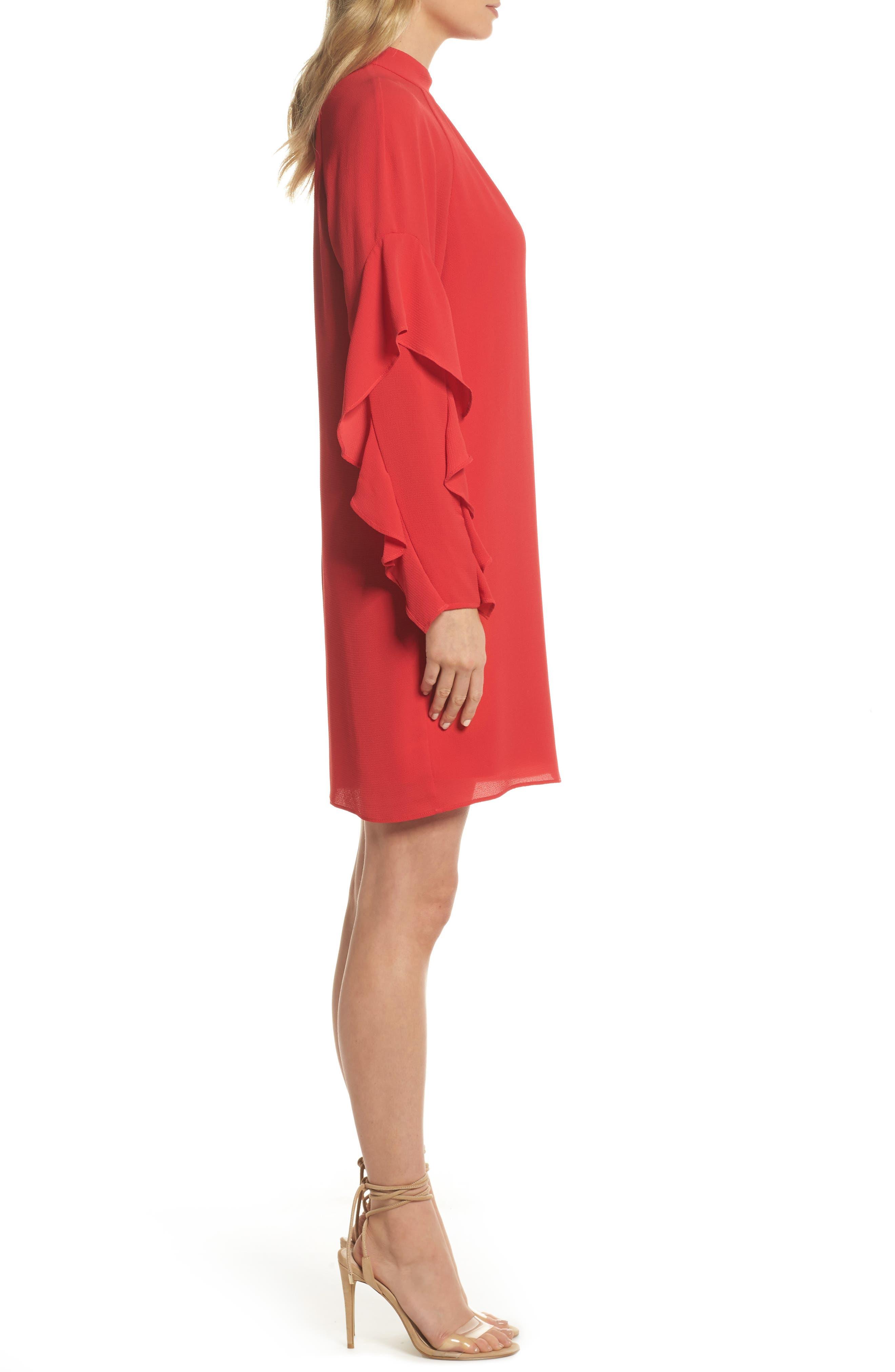 Catalina Ruffle Sleeve Dress,                             Alternate thumbnail 3, color,                             648