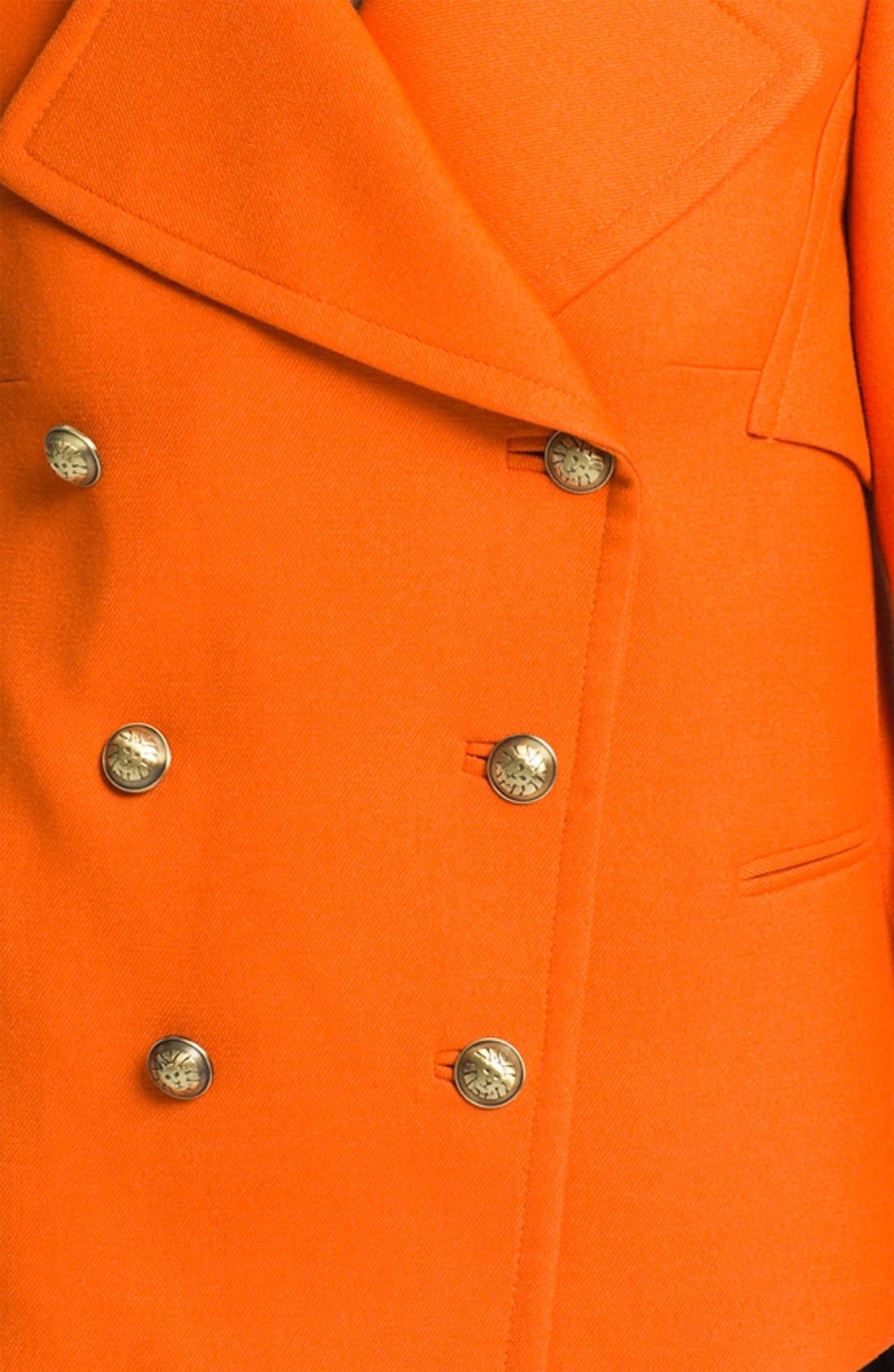 ANNE KLEIN,                             Double Breasted Peacoat,                             Alternate thumbnail 3, color,                             810
