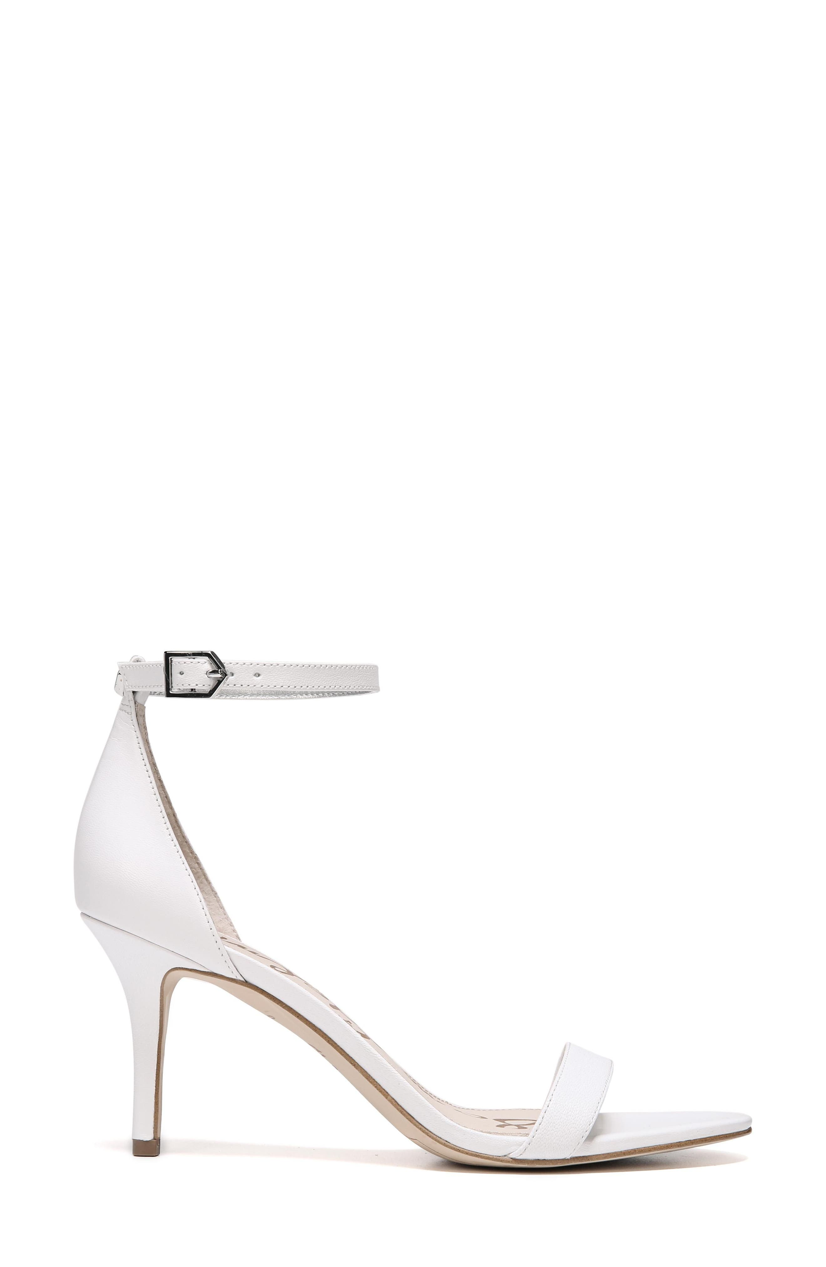 'Patti' Ankle Strap Sandal,                             Alternate thumbnail 2, color,                             BRIGHT WHITE LEATHER