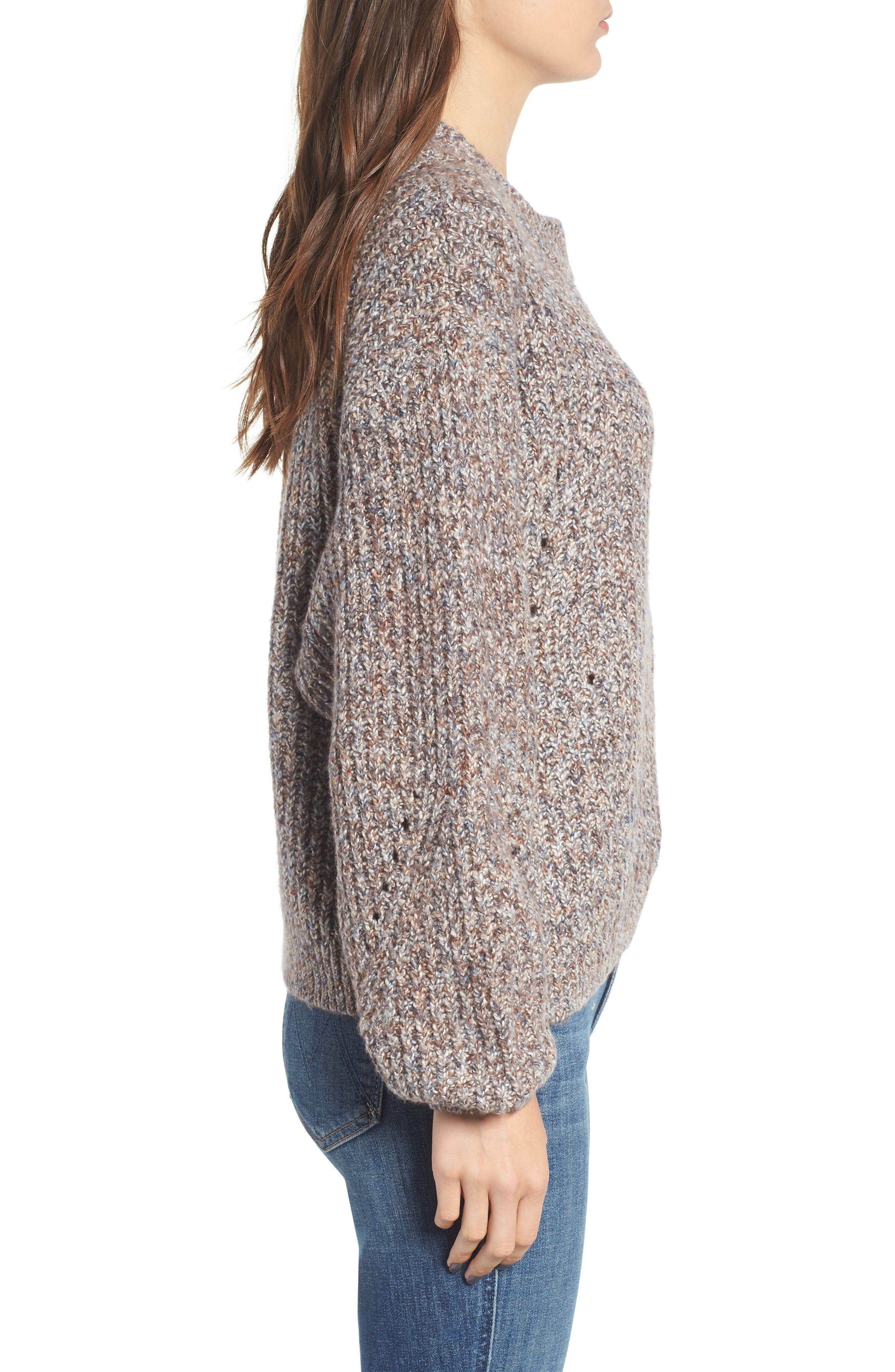Heritage Stitch Sweater,                             Alternate thumbnail 3, color,                             021