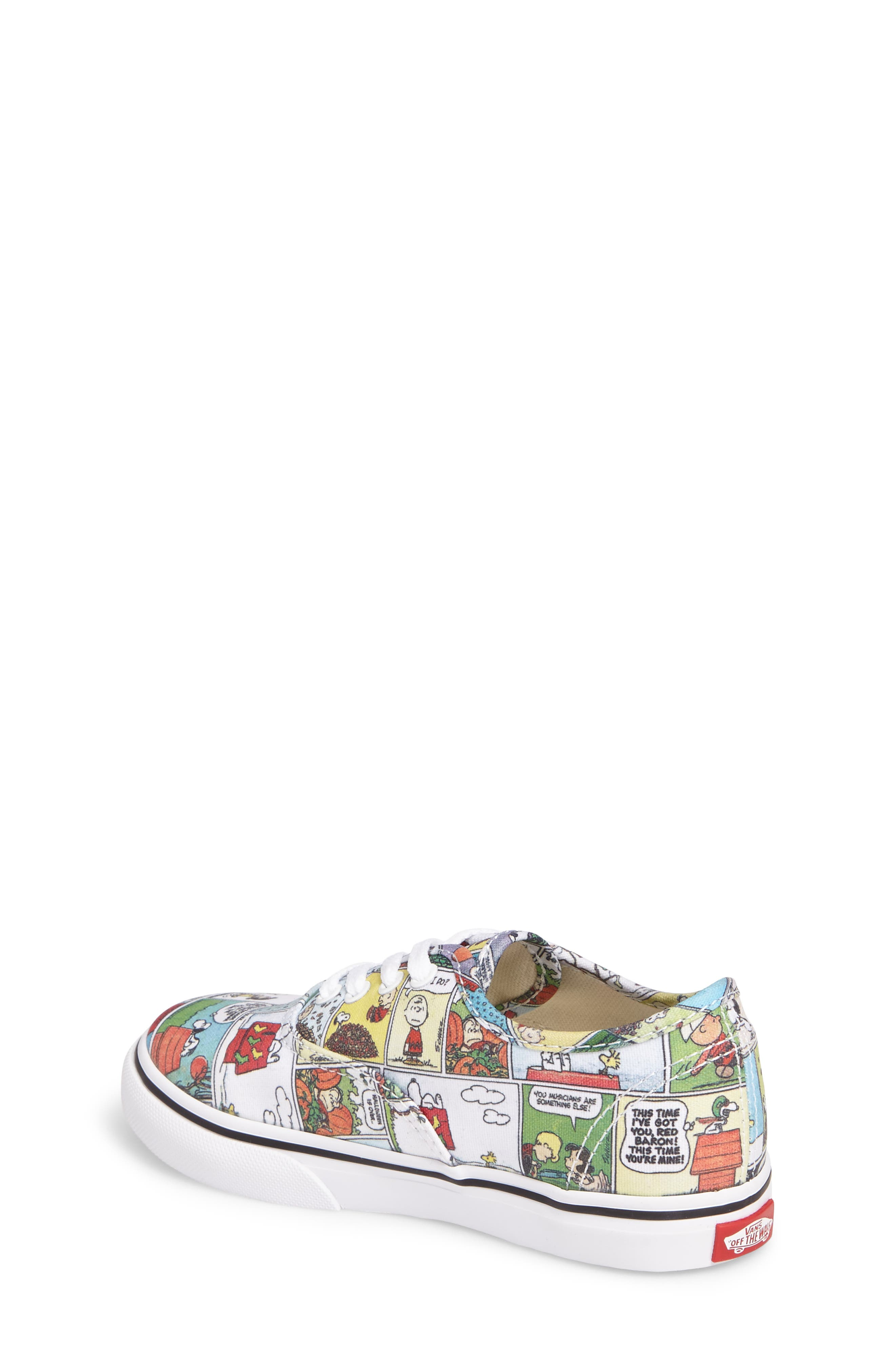 x Peanuts Authentic Low Top Sneaker,                             Alternate thumbnail 2, color,                             001