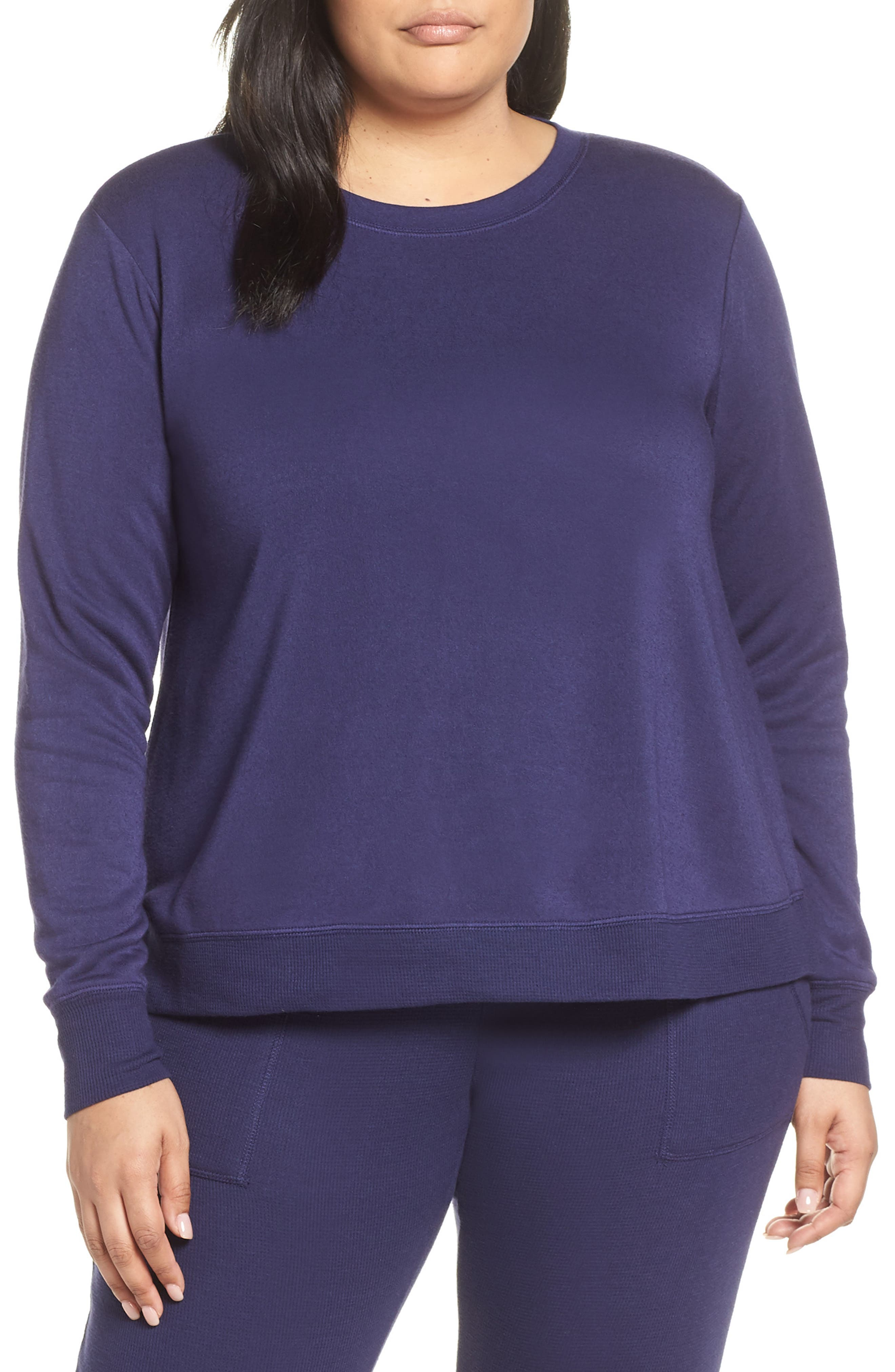 This Is It Sweatshirt, Main, color, NAVY DUSK