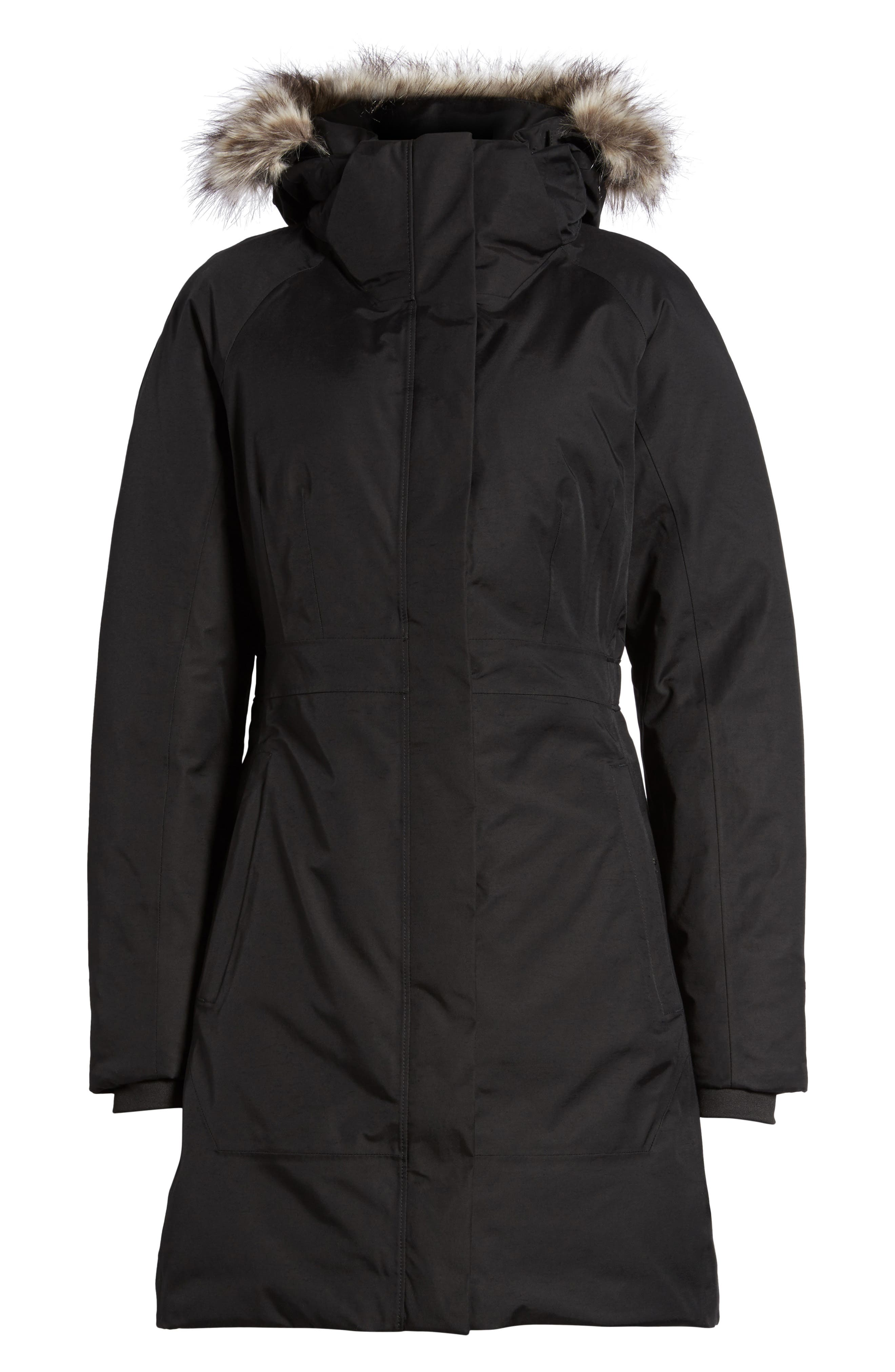 Arctic II Waterproof 550-Fill-Power Down Parka with Faux Fur Trim,                             Alternate thumbnail 22, color,
