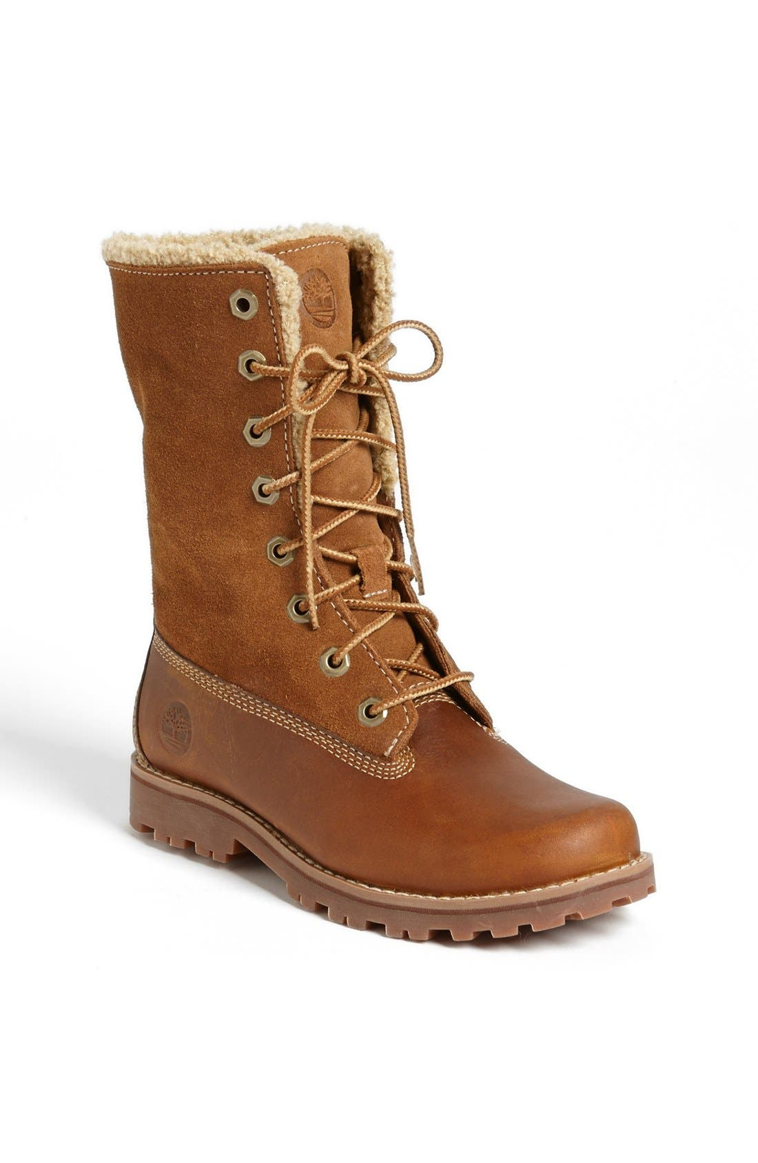 Genuine Shearling Boot,                             Alternate thumbnail 3, color,                             214