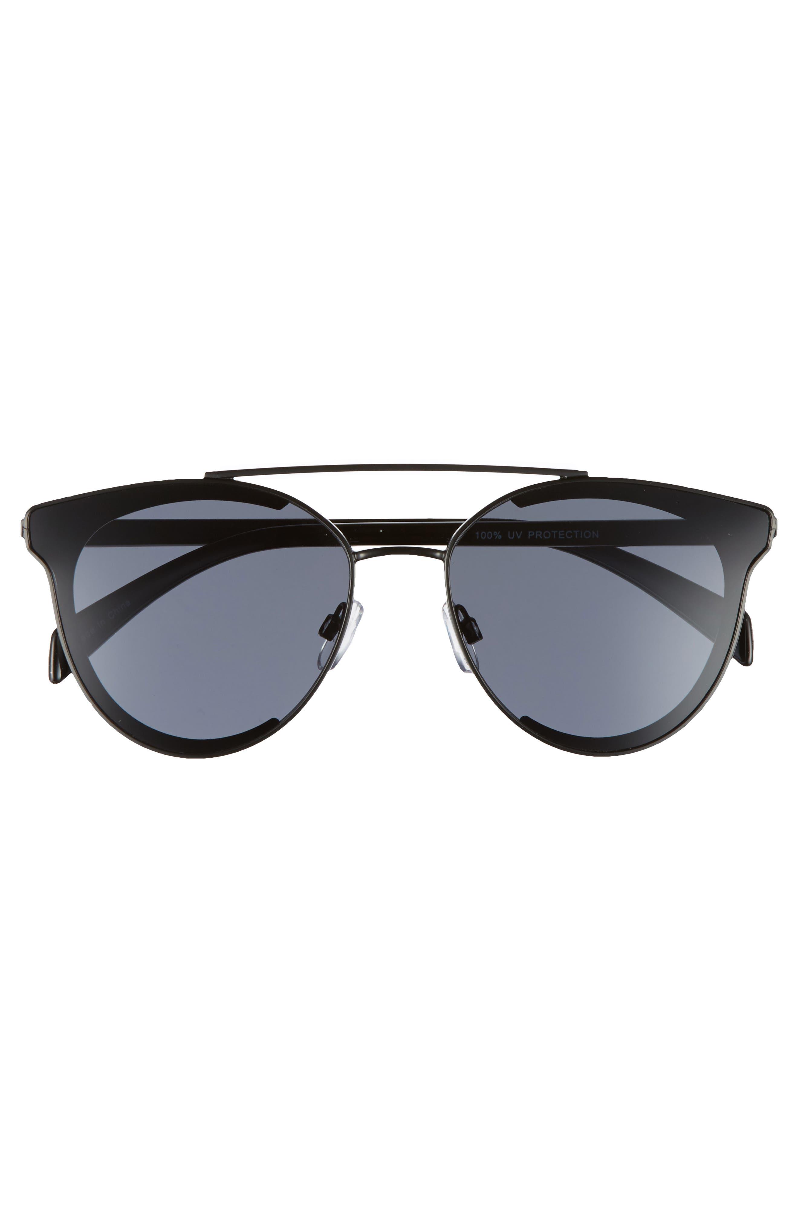 58mm Aviator Sunglasses,                             Alternate thumbnail 3, color,                             001