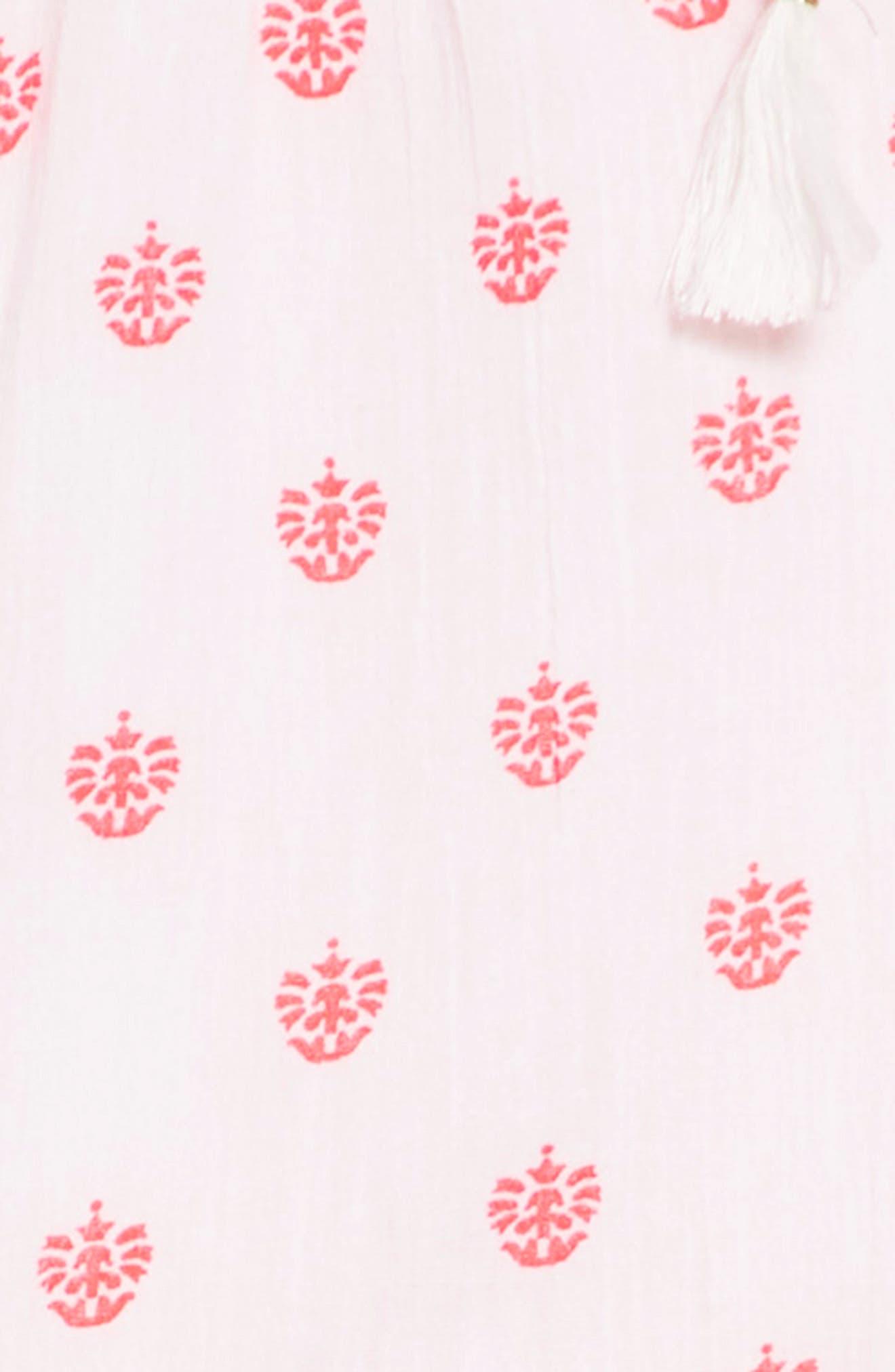 Abby Ruffle Cotton Dress,                             Alternate thumbnail 3, color,                             100