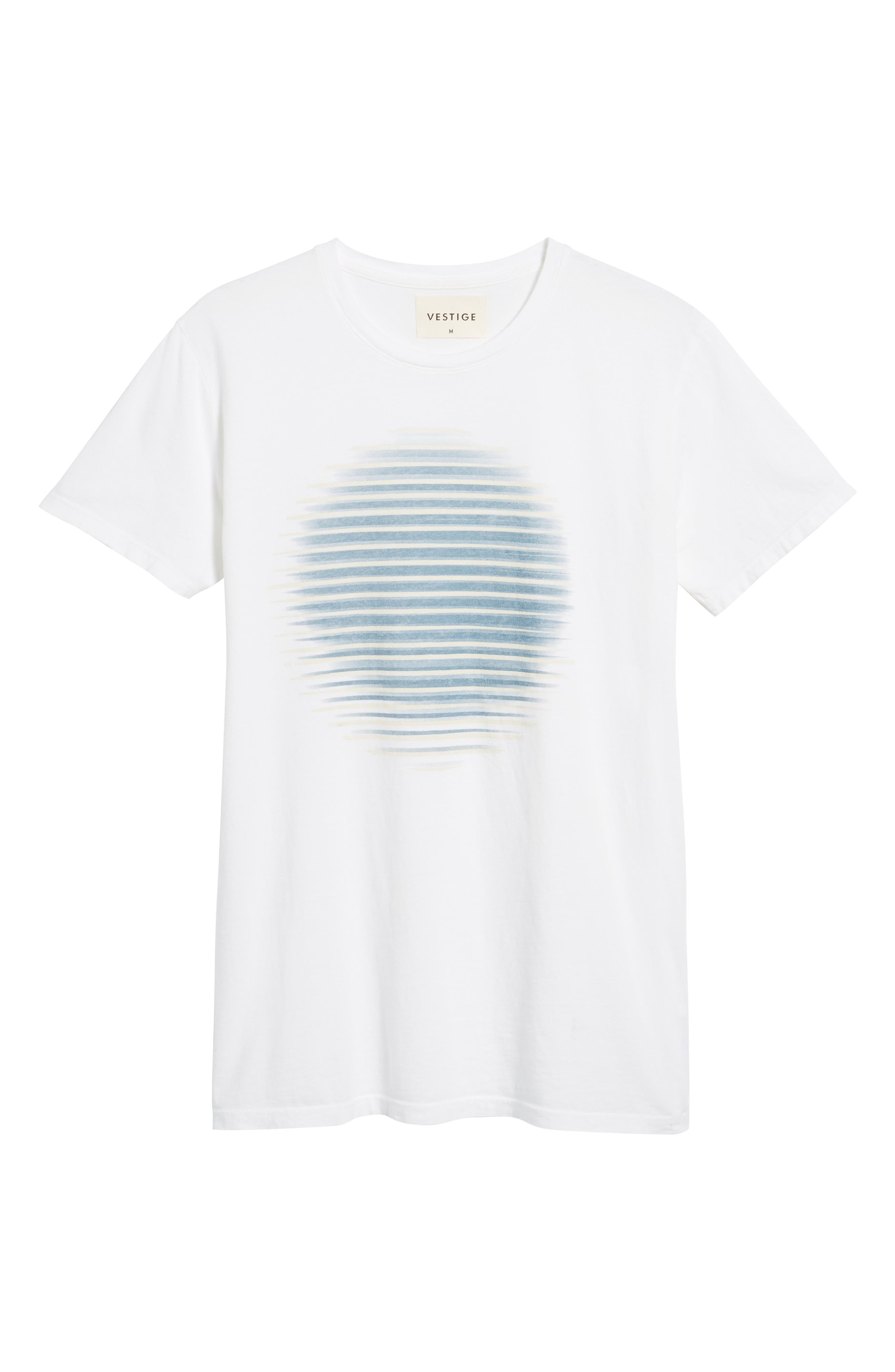 Lined Circle Graphic T-Shirt,                             Alternate thumbnail 6, color,                             100