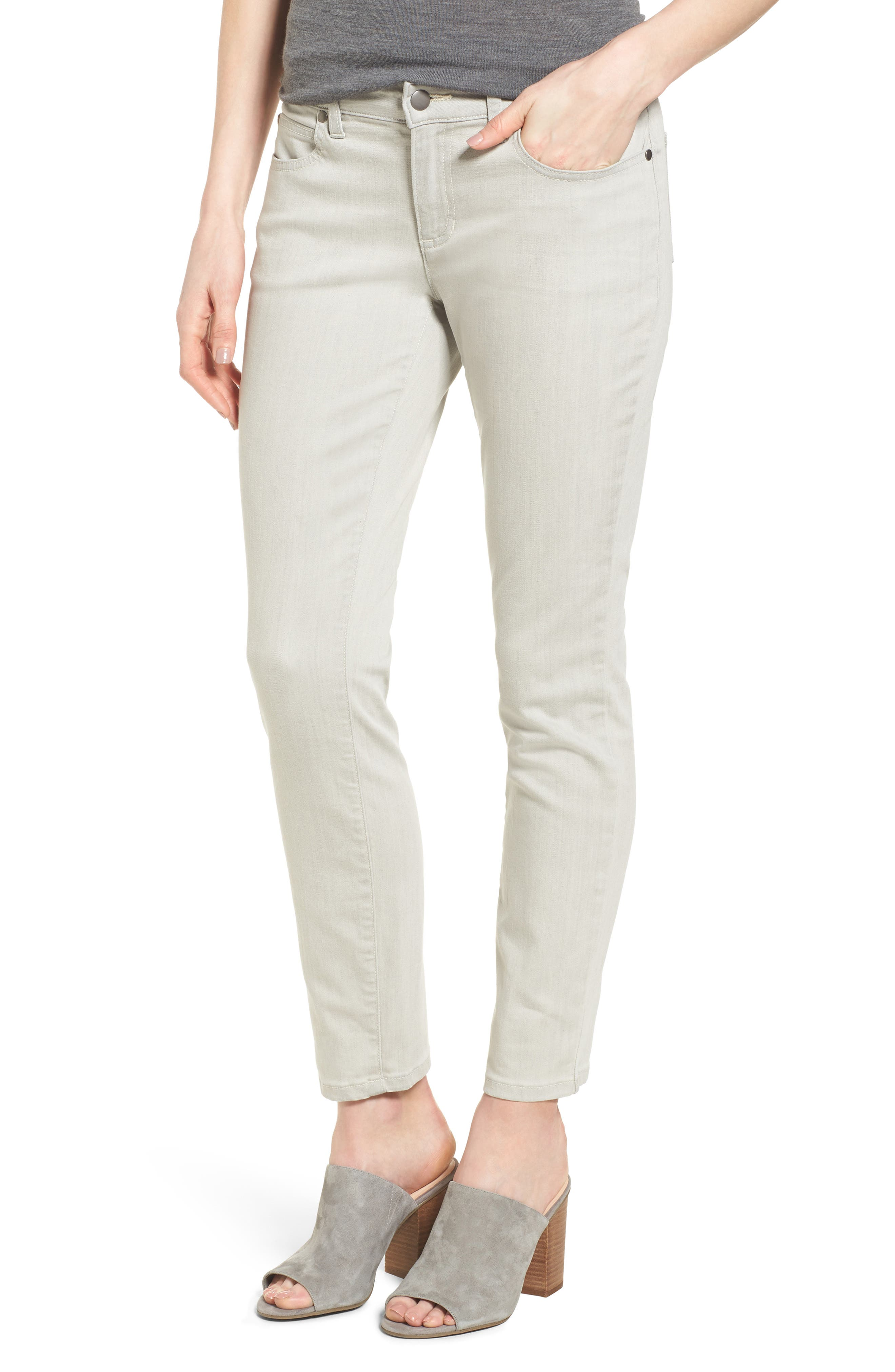 Slim Stretch Ankle Jeans,                         Main,                         color, CEMENT