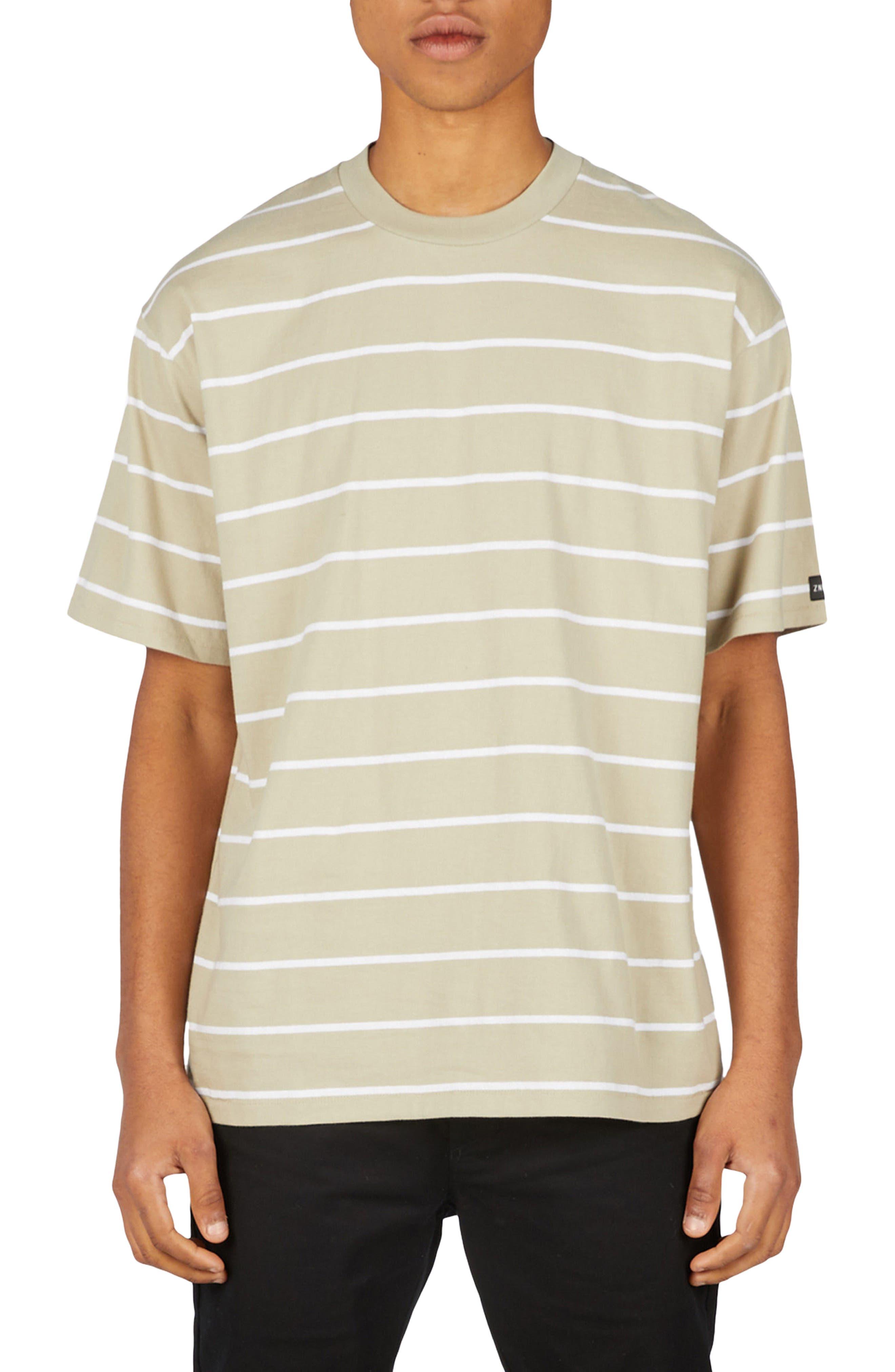 Stripe Box T-Shirt,                         Main,                         color, MOSS/ WHITE