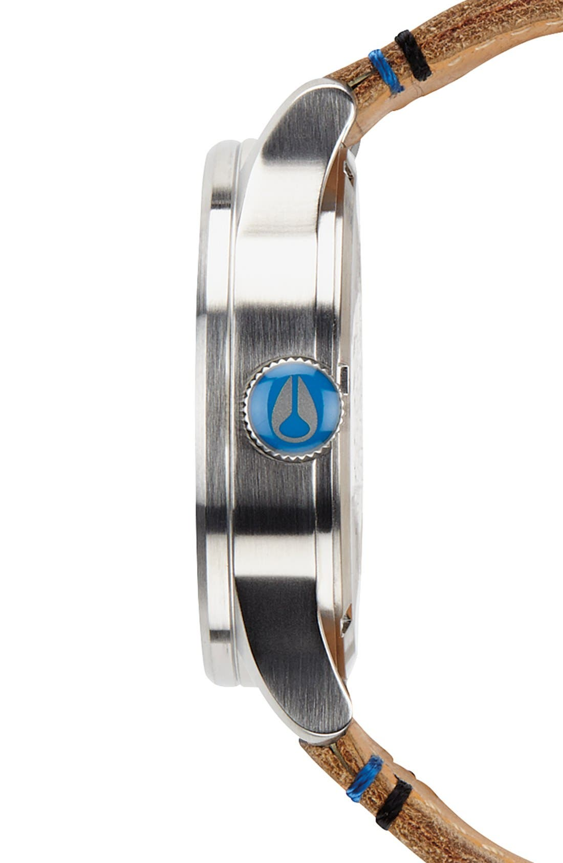 The Sentry Leather Strap Watch, 42mm,                             Alternate thumbnail 110, color,