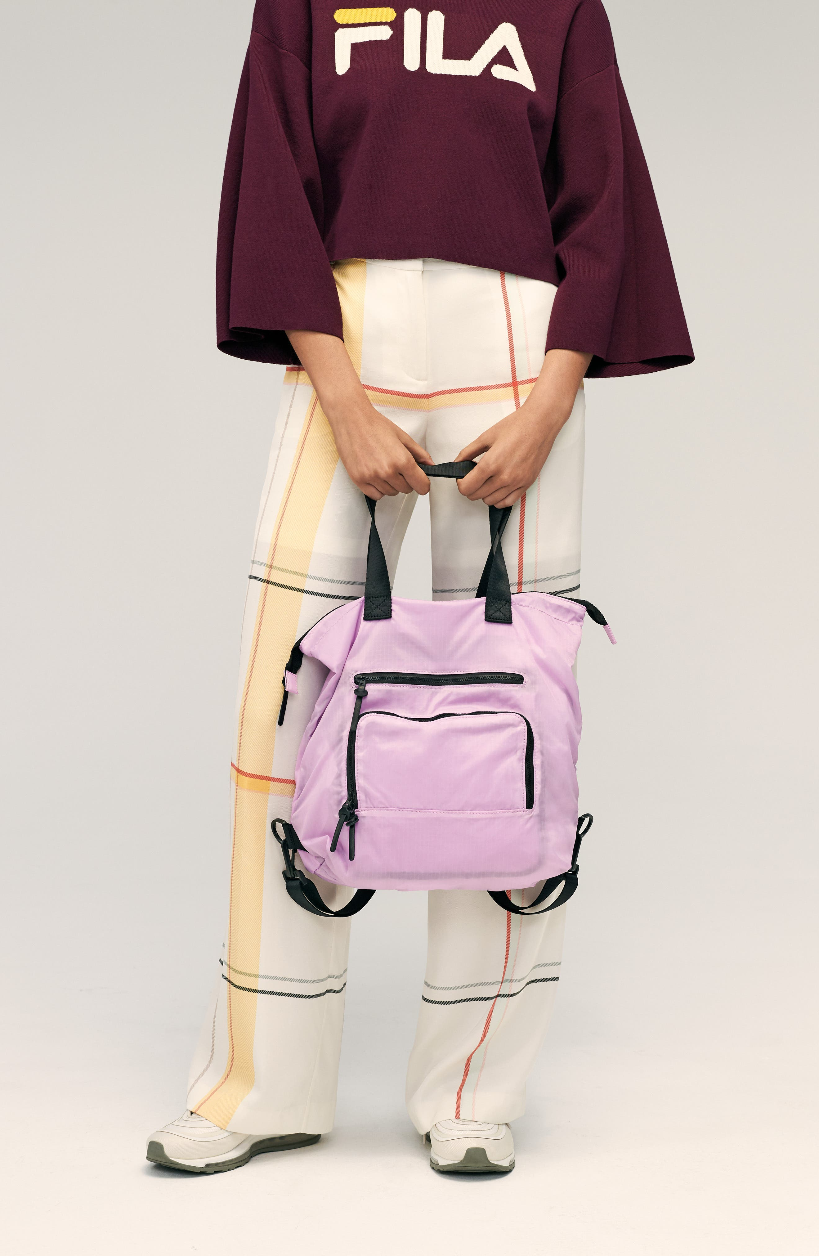 Packable Convertible Backpack,                             Alternate thumbnail 9, color,                             LAVENDER SWEET