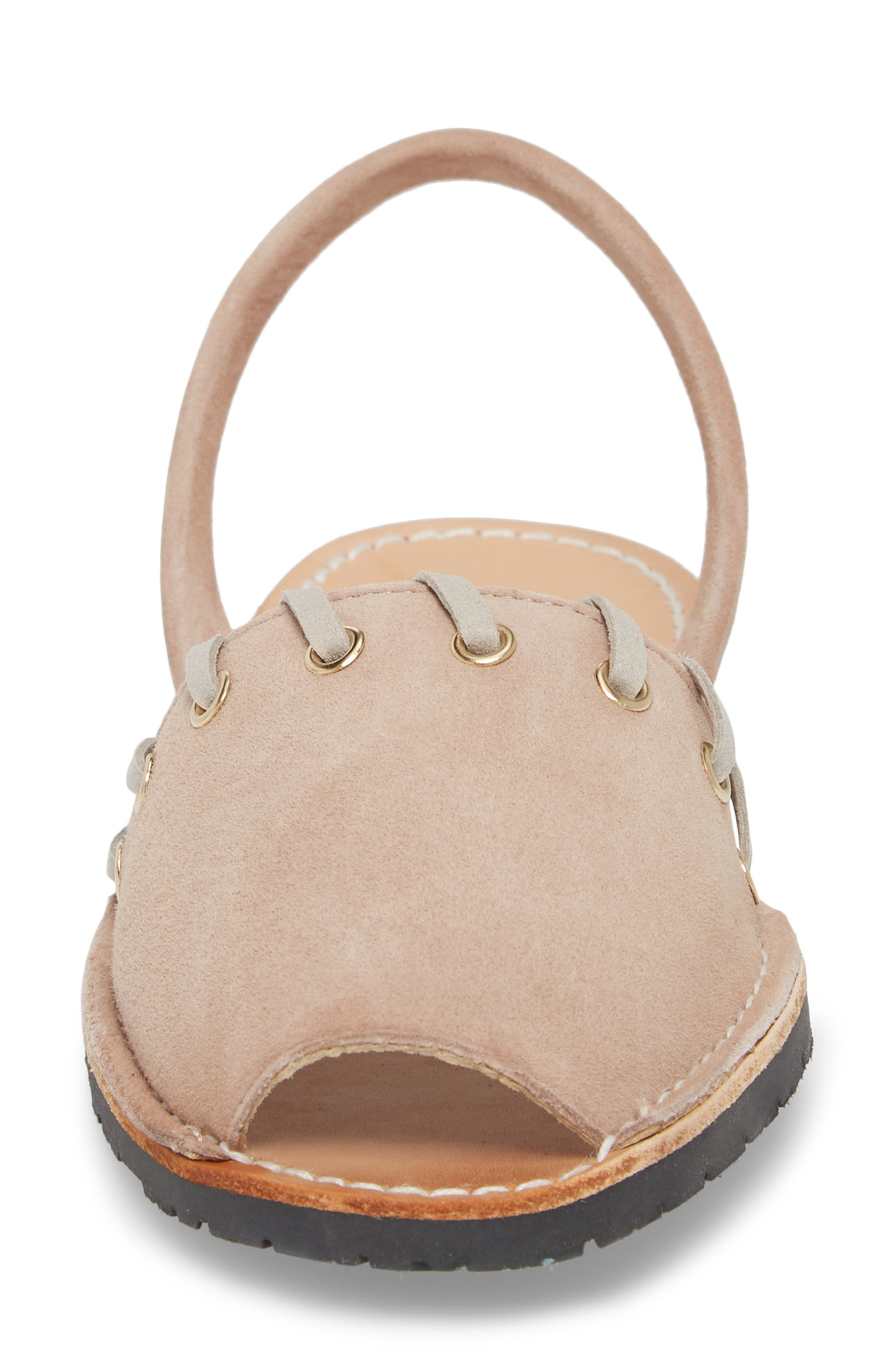 Whipstitched Flat Sandal,                             Alternate thumbnail 4, color,                             060
