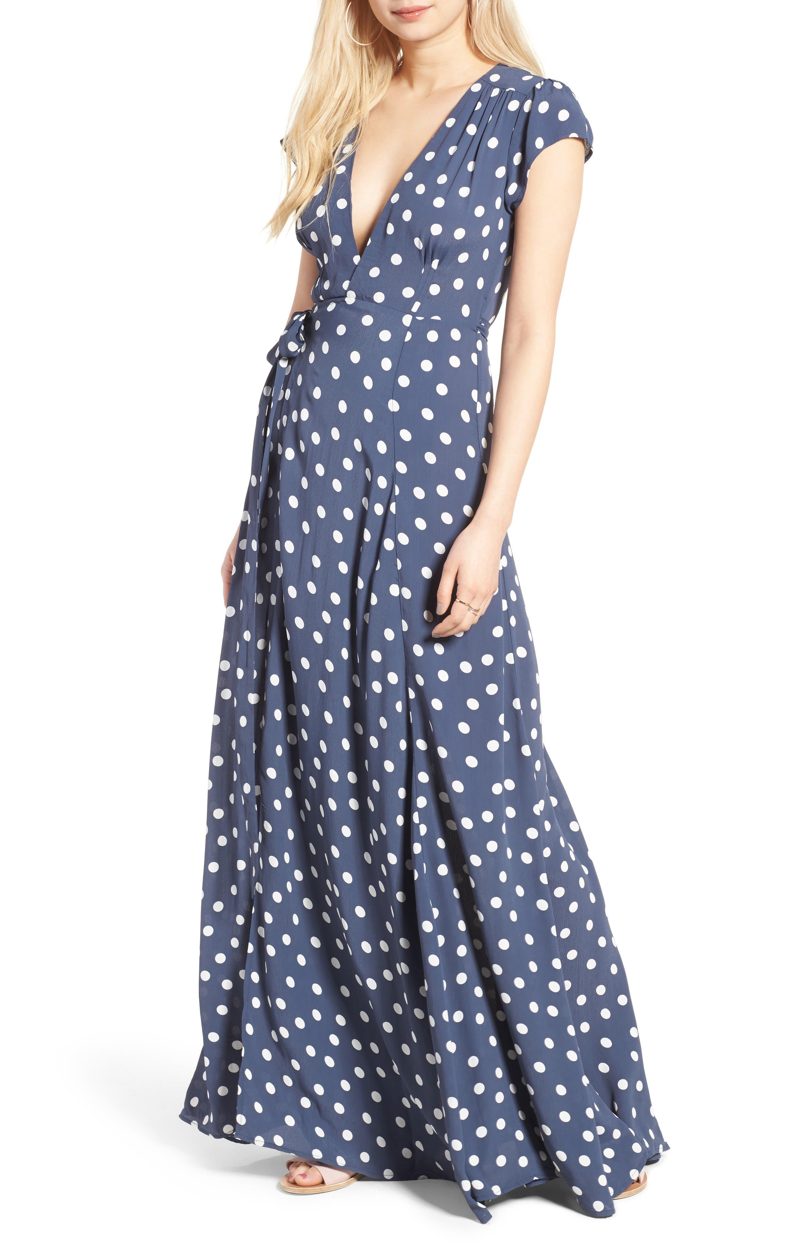 Sid Wrap Maxi Dress,                         Main,                         color, 401