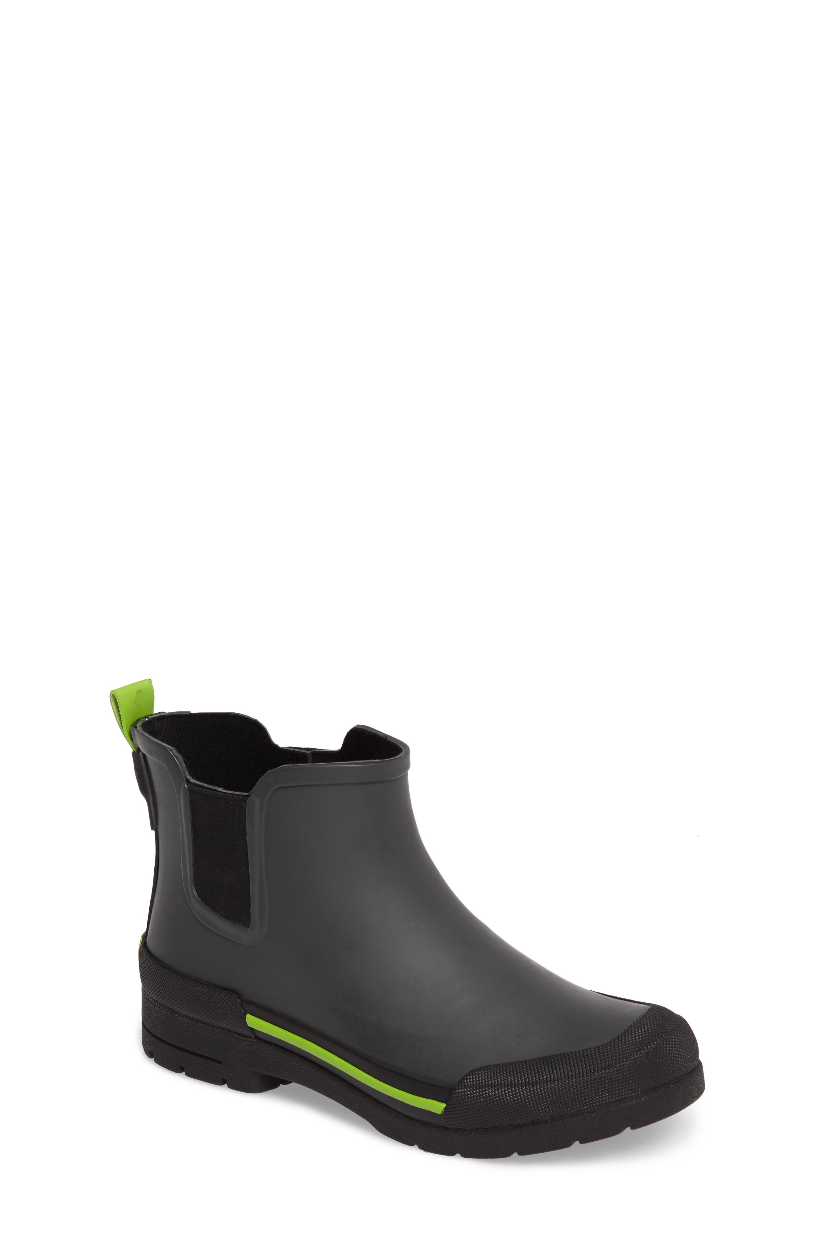 Classic Twin Gore Waterproof Rain Boot,                             Main thumbnail 1, color,                             CHARCOAL