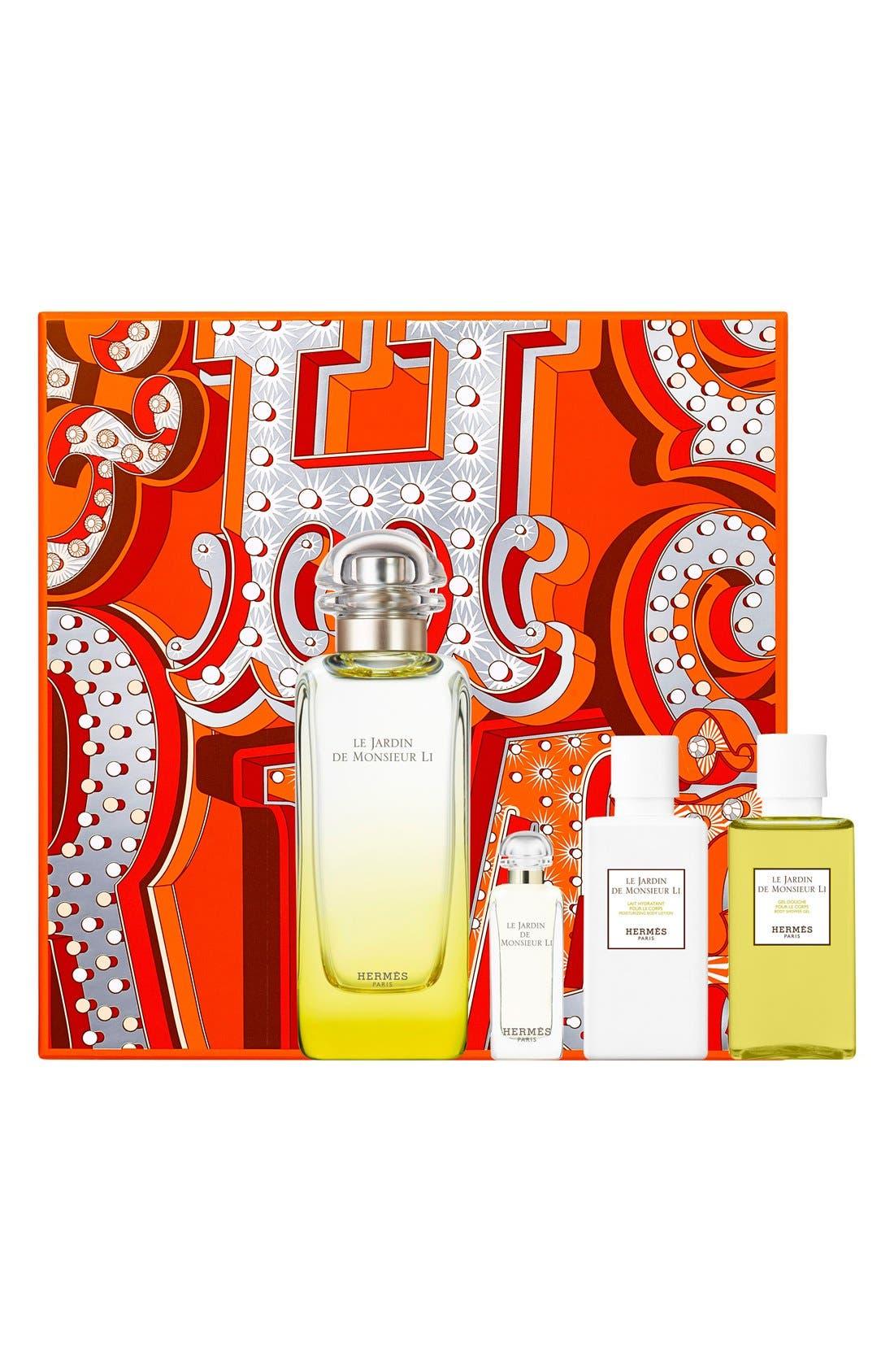 Fêtes en Hermès Le Jardin de Monsieur Li Eau de toilette gift set, Main, color, 000