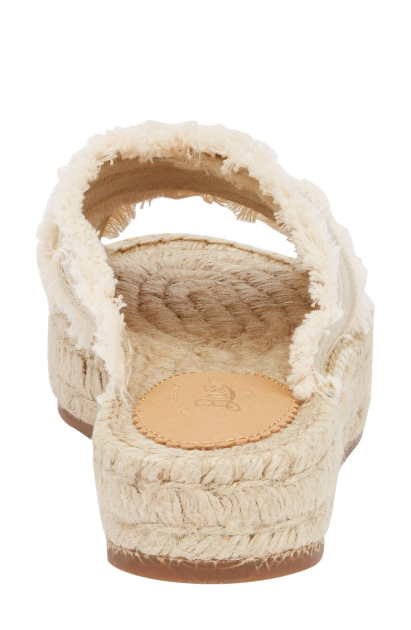 Anabelle Espadrille Sandal,                             Alternate thumbnail 6, color,                             IVORY/ GOLD FABRIC
