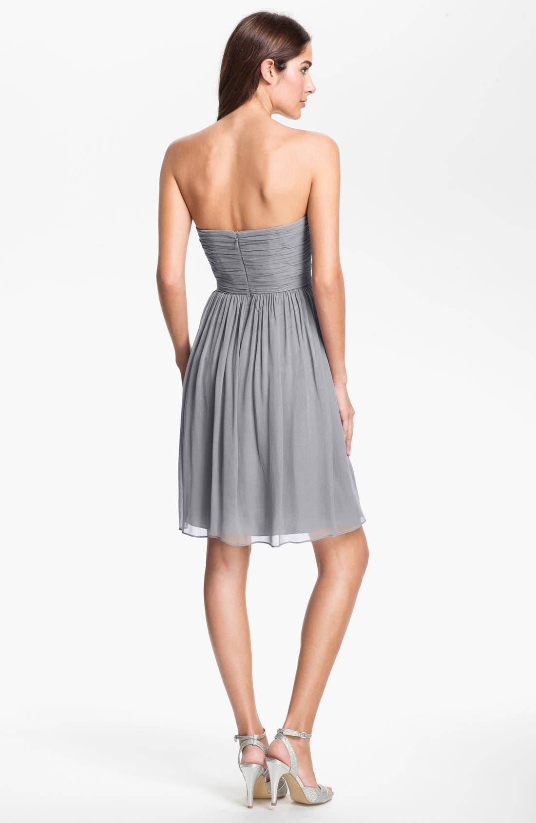 'Morgan' Strapless Silk Chiffon Dress,                             Alternate thumbnail 103, color,
