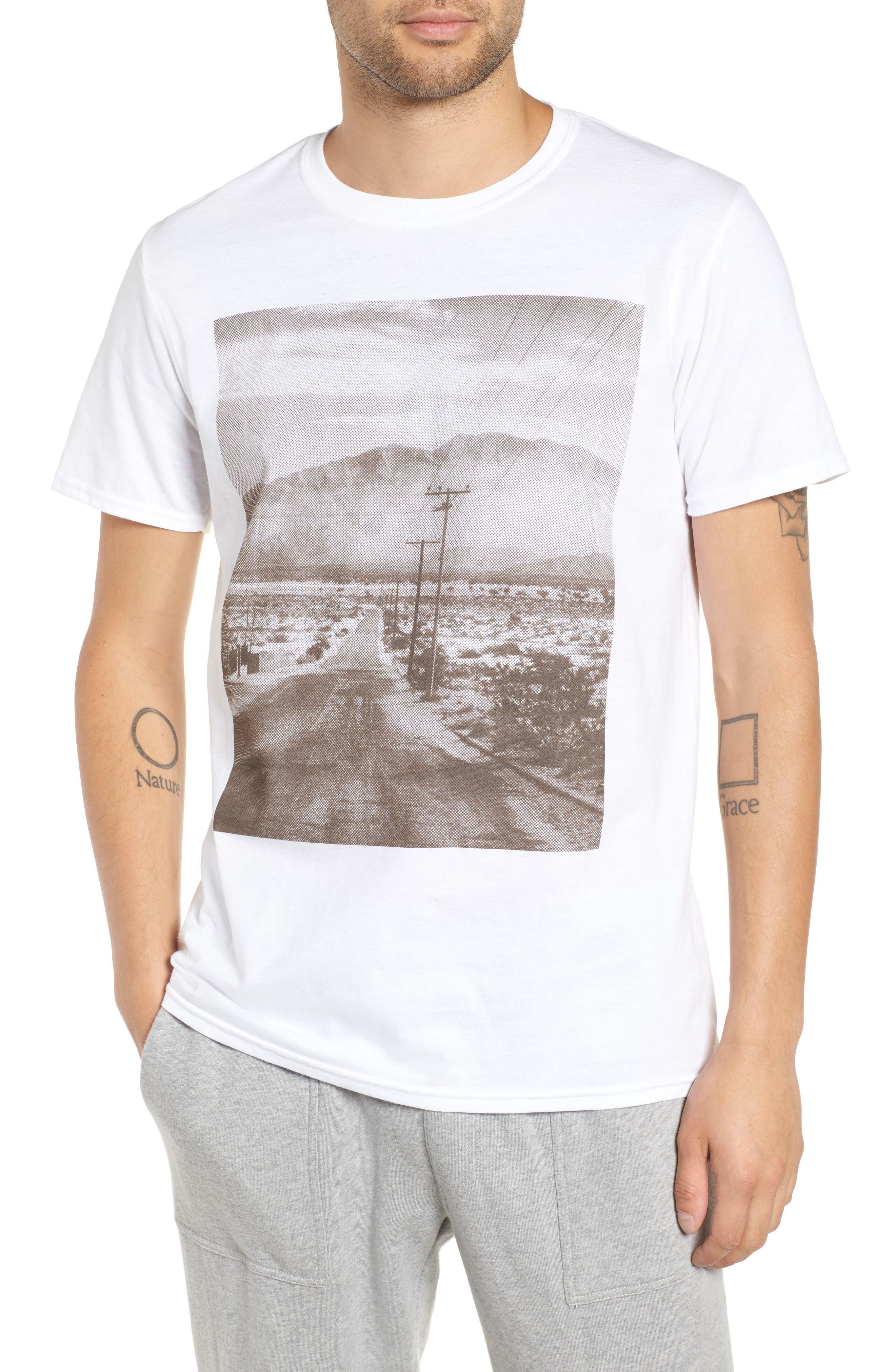 Deserted Road Photo T-Shirt,                             Main thumbnail 1, color,                             100