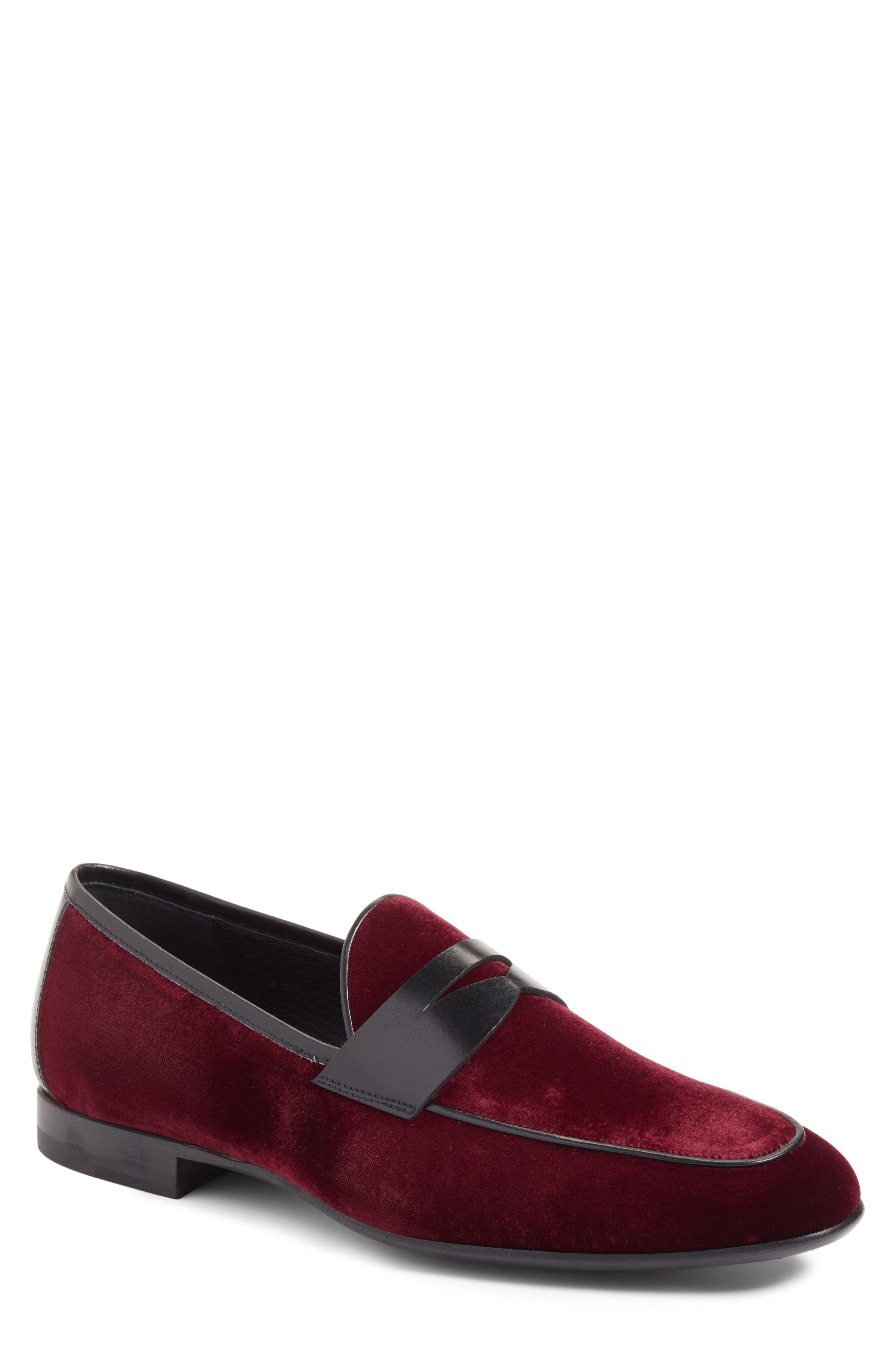 Dorado Penny Loafer,                             Main thumbnail 1, color,                             BURGUNDY