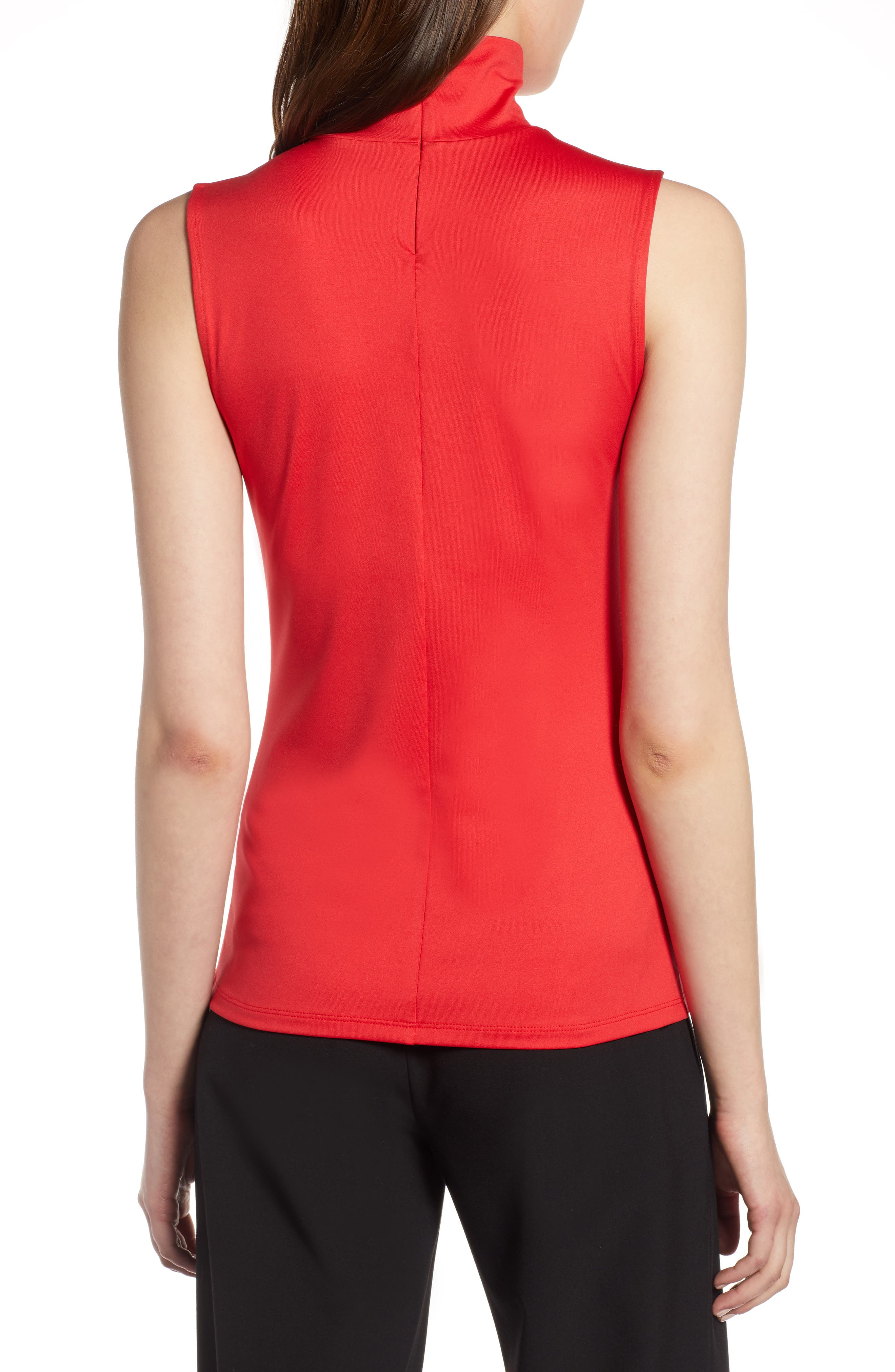 HALOGEN<SUP>®</SUP>,                             Mock Neck Shell Top,                             Alternate thumbnail 2, color,                             RED CHINOISE
