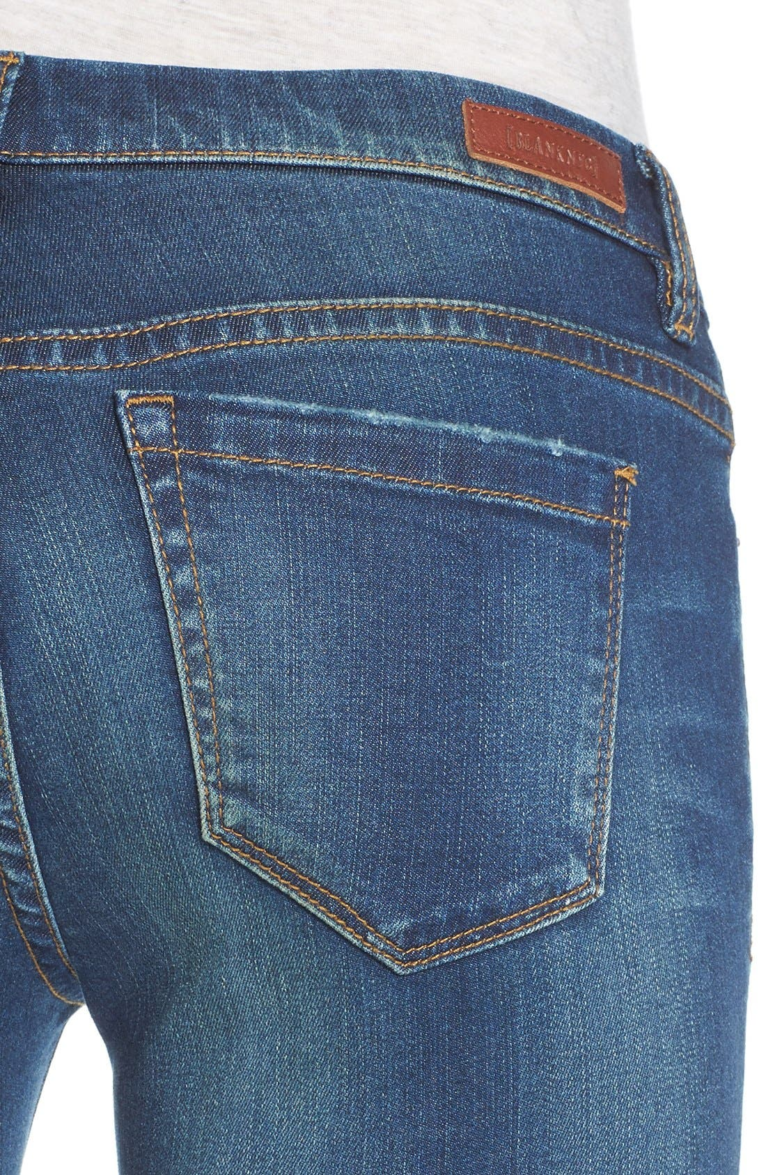 'Instagirl' Distressed Skinny Jeans,                             Alternate thumbnail 3, color,