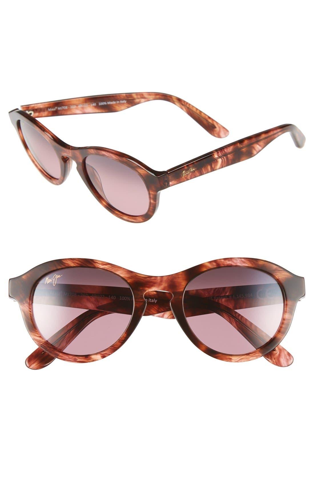 Leia 49mm PolarizedPlus2<sup>®</sup> Retro Sunglasses,                             Main thumbnail 1, color,                             201
