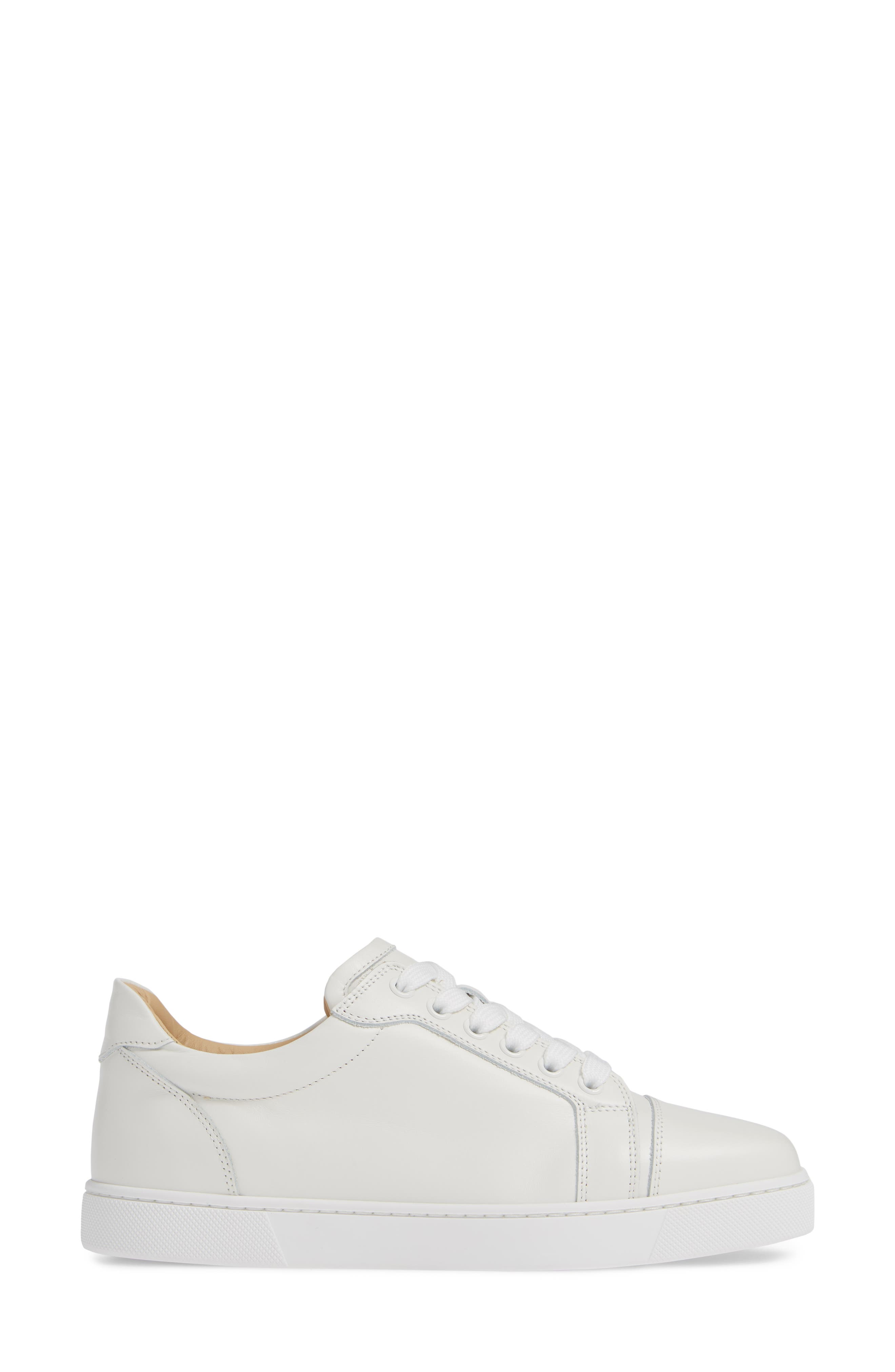 Veira Lace-Up Sneaker,                             Alternate thumbnail 3, color,                             SNOW WHITE