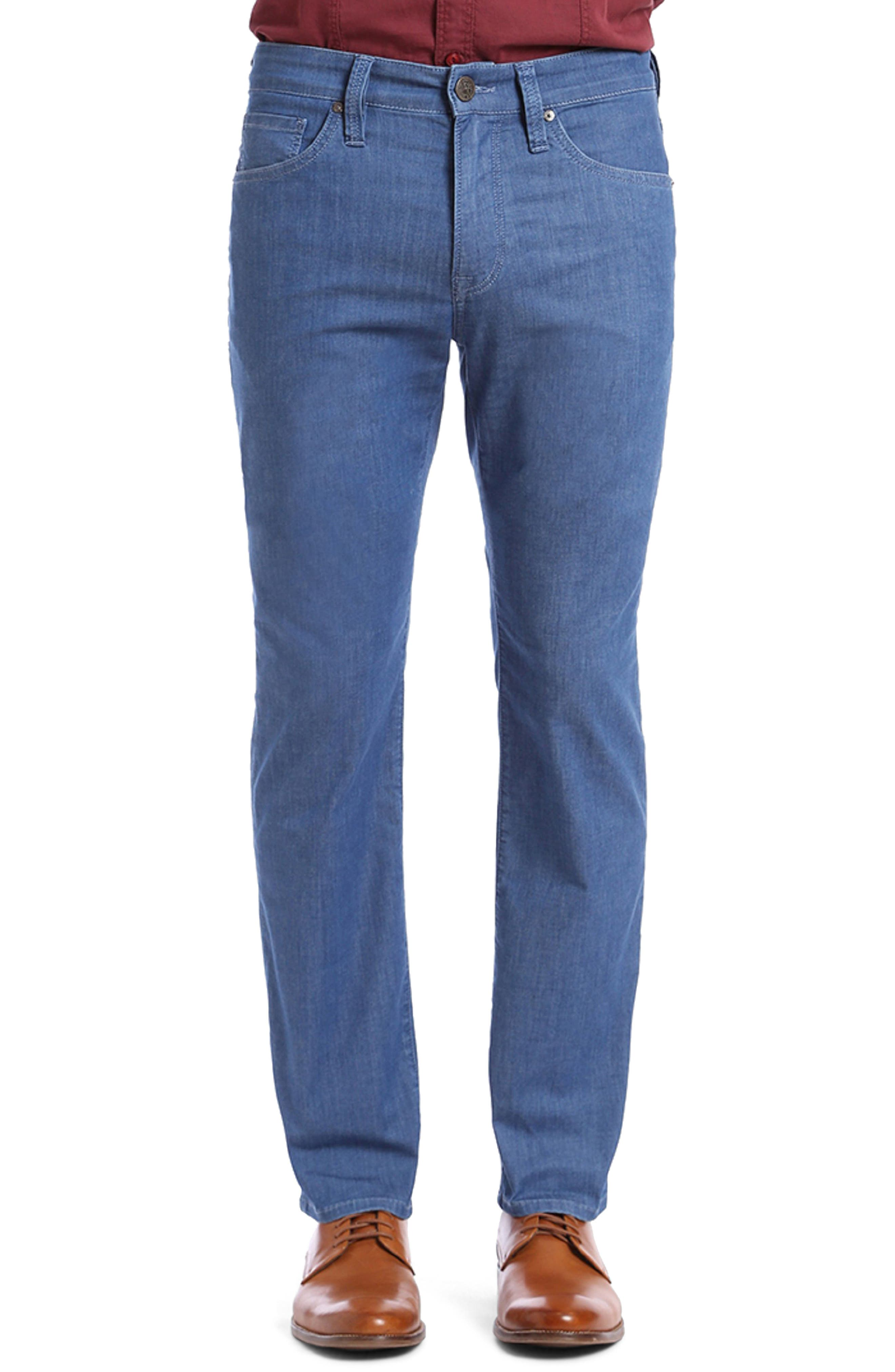 Courage Straight Fit Jeans,                             Main thumbnail 1, color,                             MID MAUI DENIM