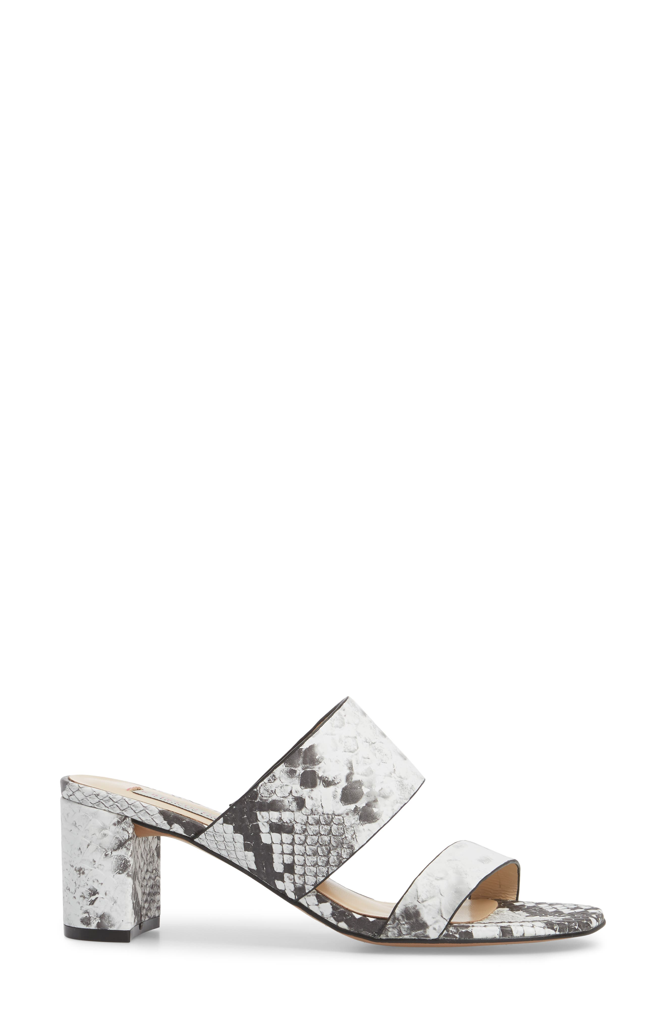 Lakeview Sandal,                             Alternate thumbnail 3, color,                             GREY/ WHITE PRINT LEATHER