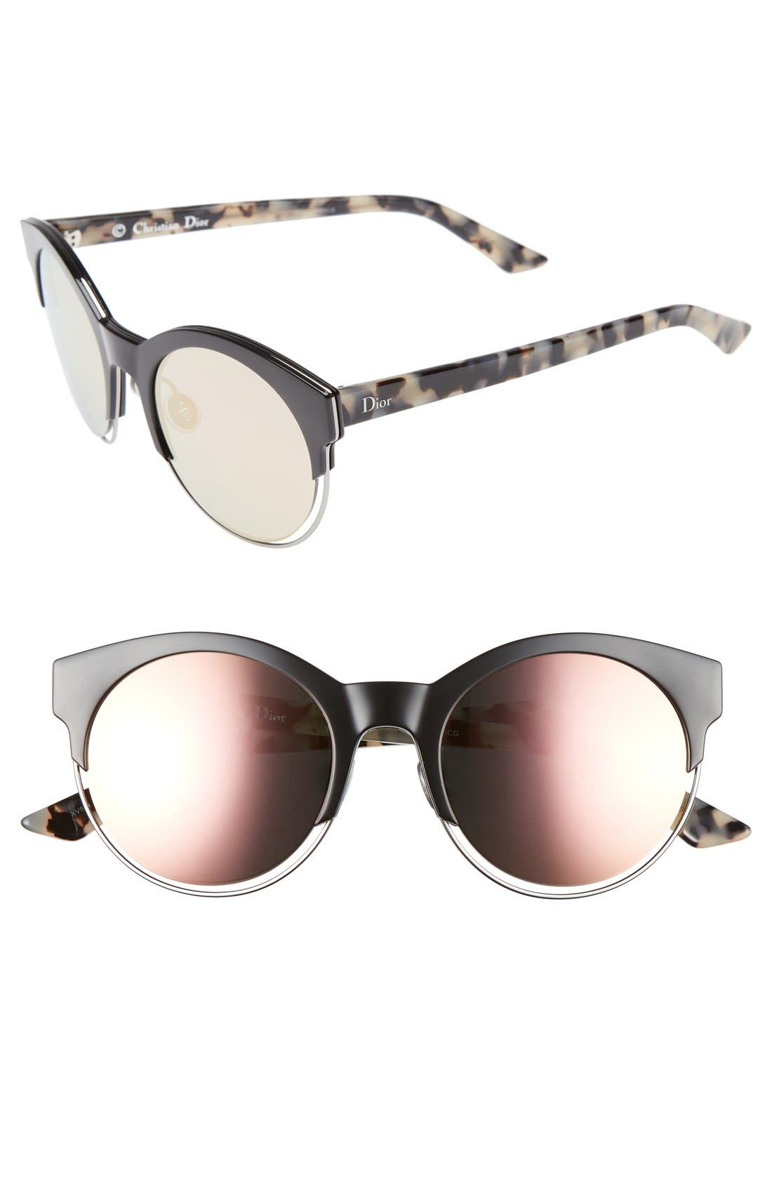 Siderall 1 53mm Round Sunglasses,                             Main thumbnail 3, color,