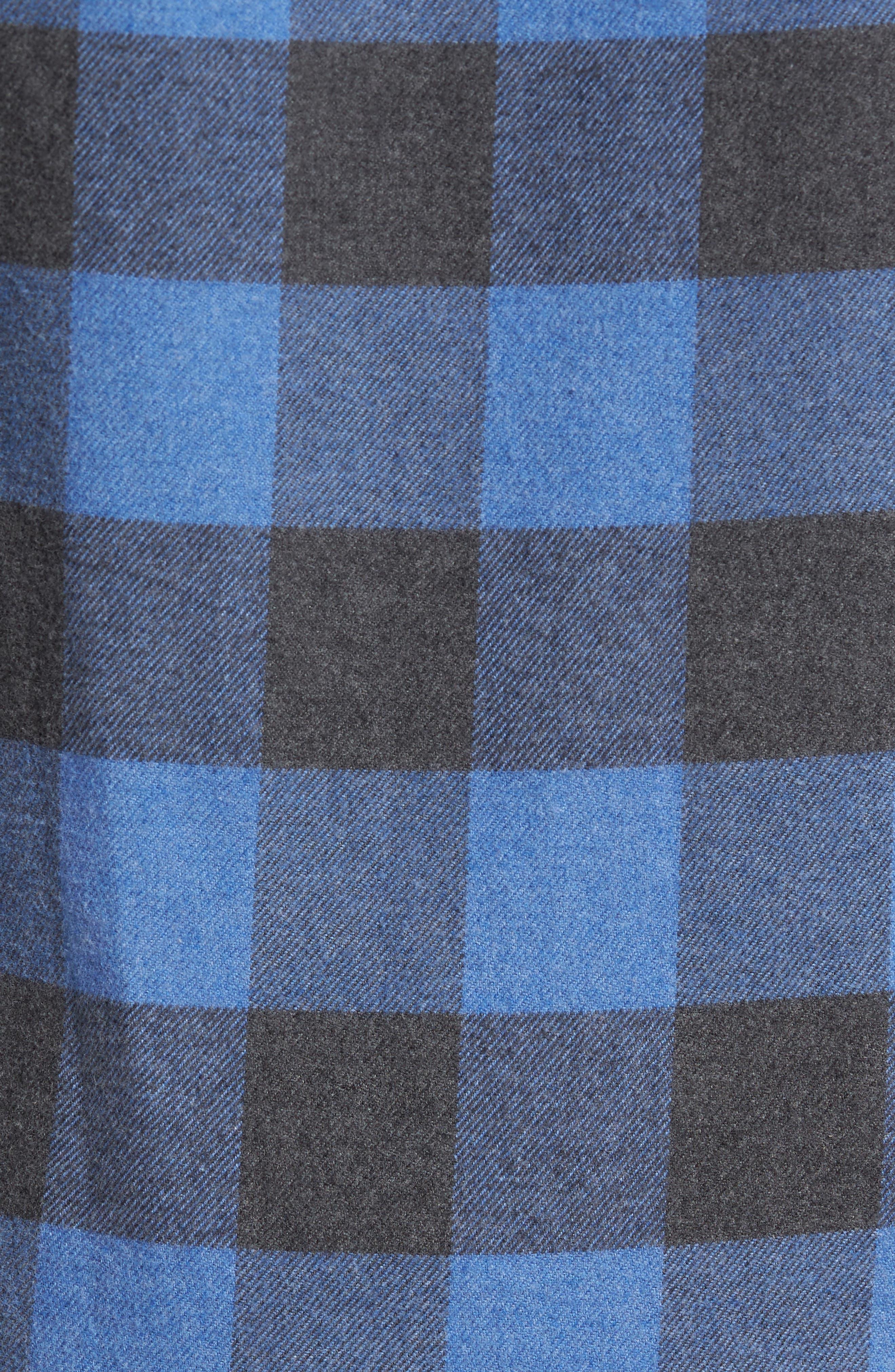 Road Trip Check Flannel Shirt,                             Alternate thumbnail 5, color,