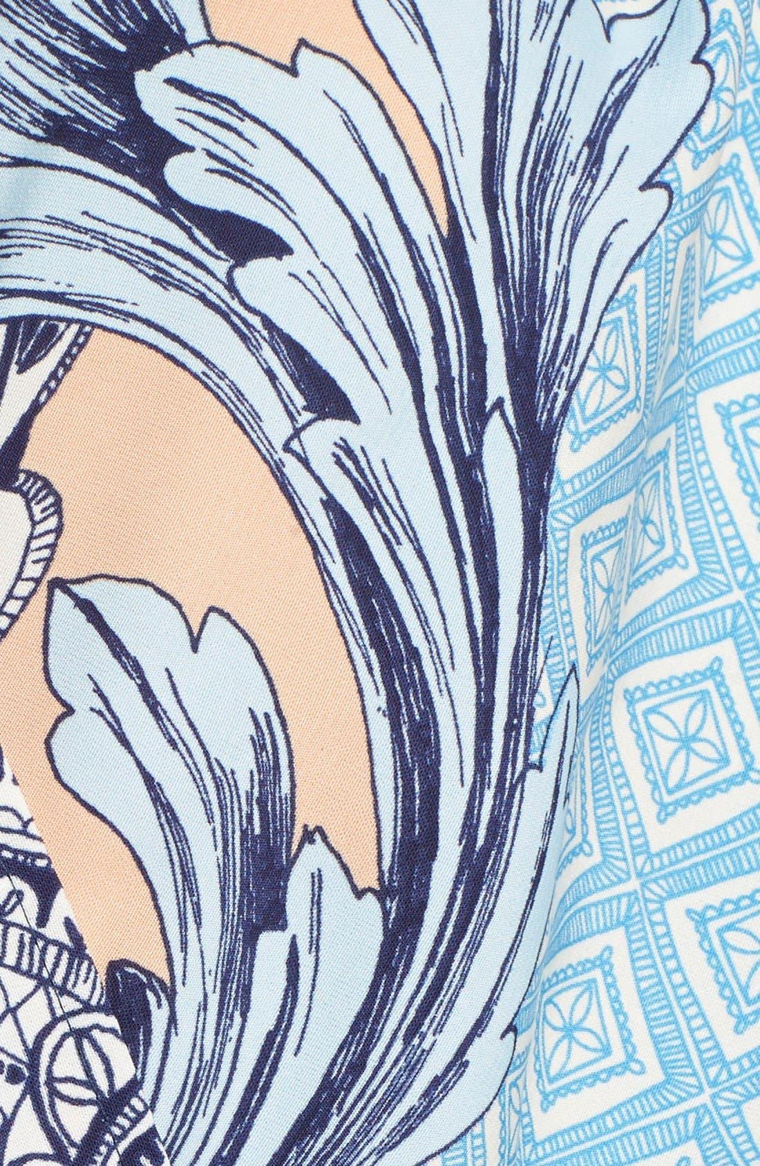 Print Long Sleeve Romper,                             Alternate thumbnail 5, color,                             400