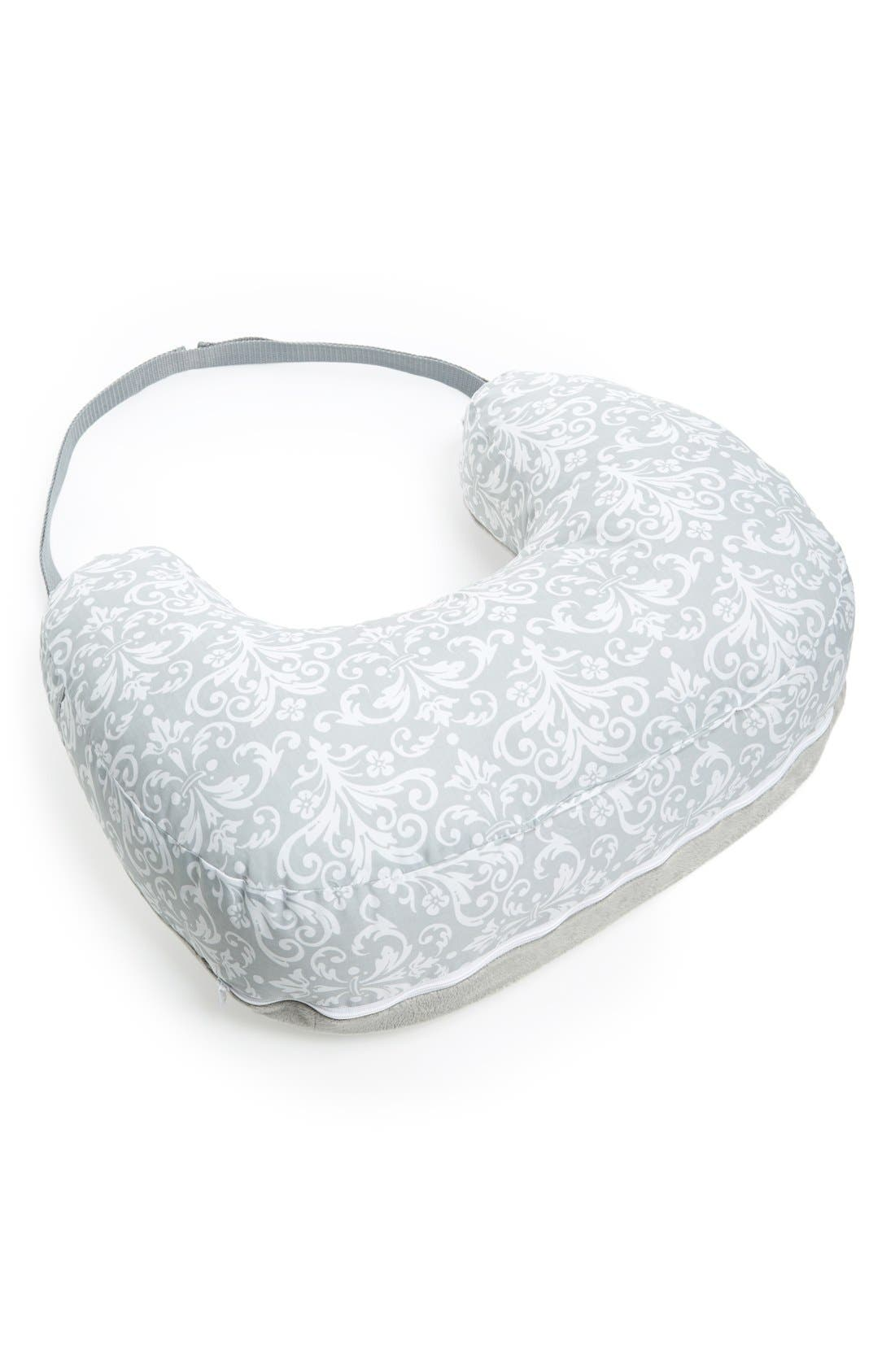 Two Sided Breastfeeding Pillow & Slipcover,                             Main thumbnail 1, color,                             KENSINGTON GREY