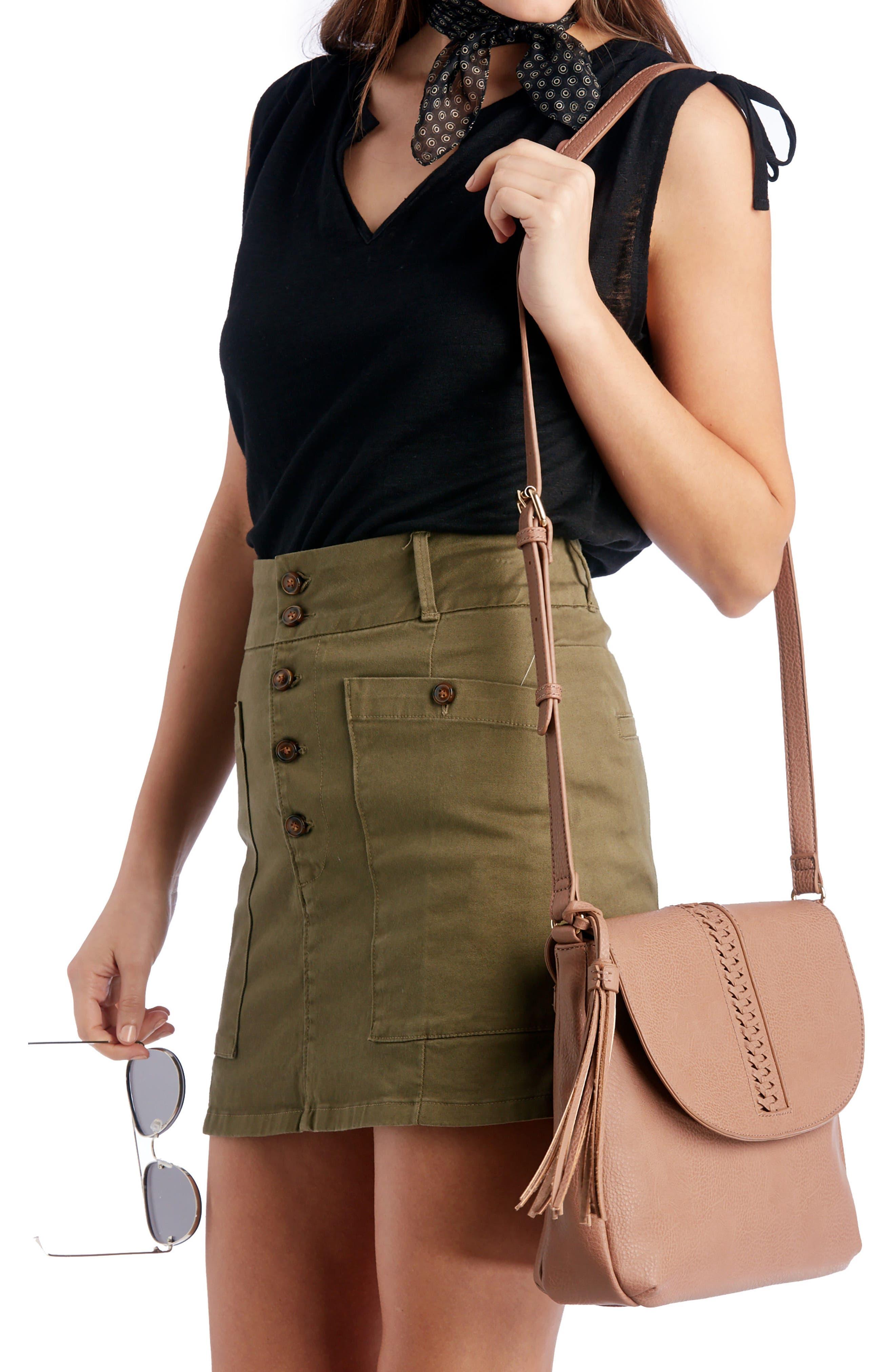 Tara Stitch Detail Faux Leather Crossbody Bag,                             Alternate thumbnail 2, color,                             020