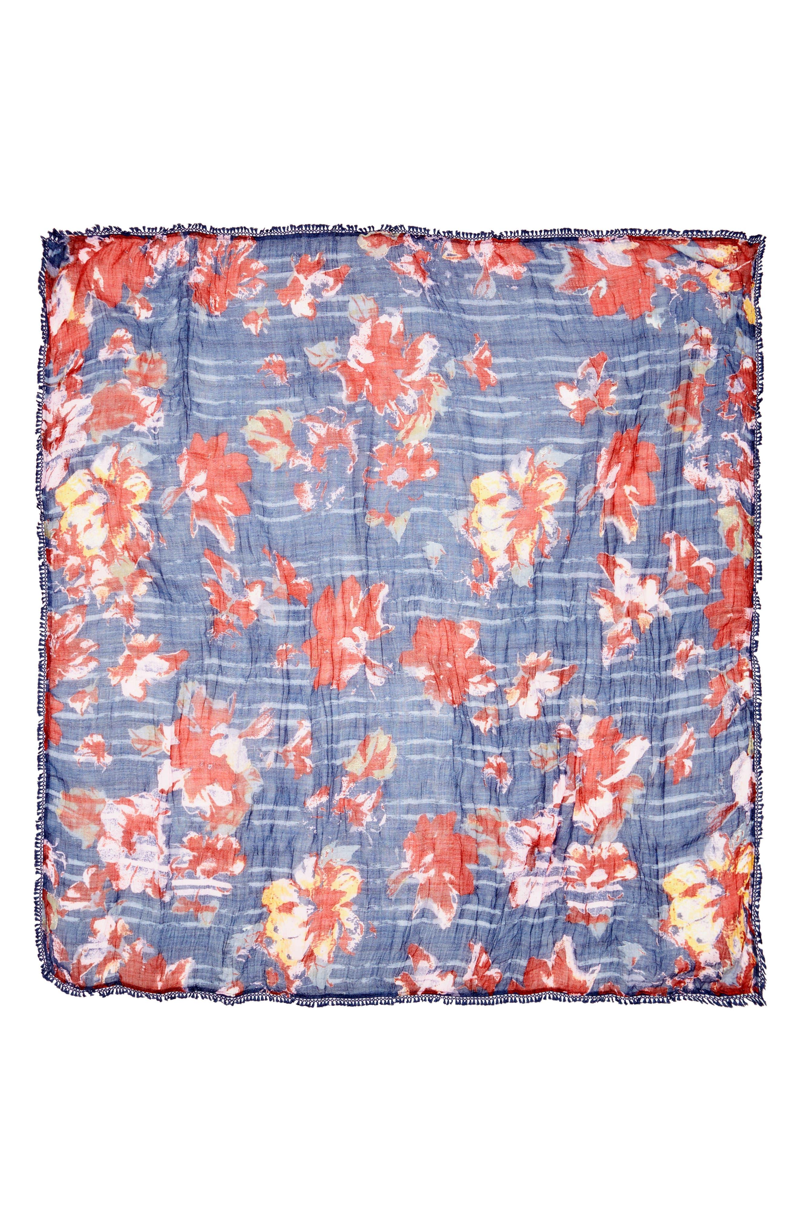 Floral Fringe Scarf,                             Alternate thumbnail 24, color,