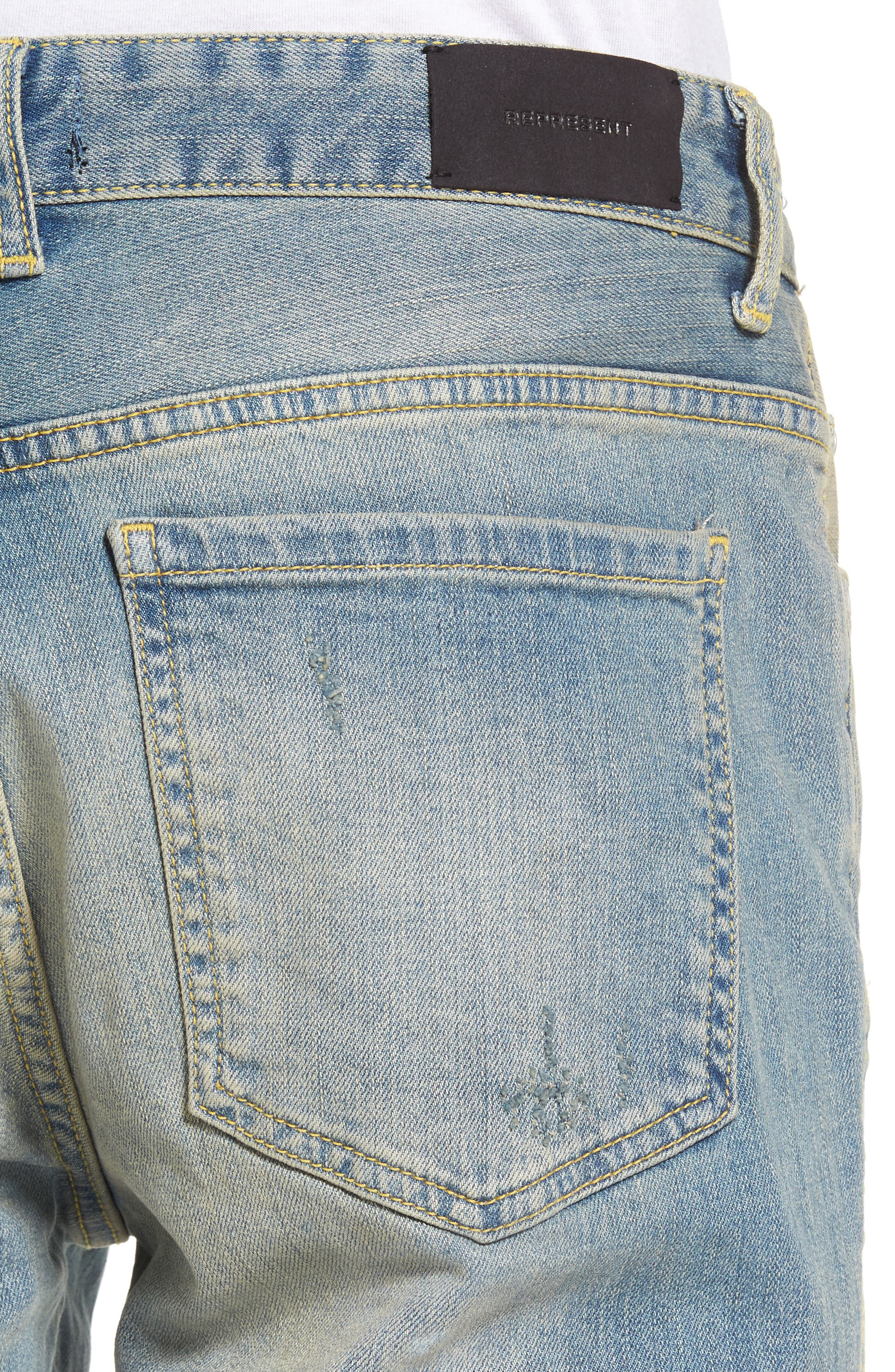 Slim Fit Destroyed Jeans,                             Alternate thumbnail 12, color,